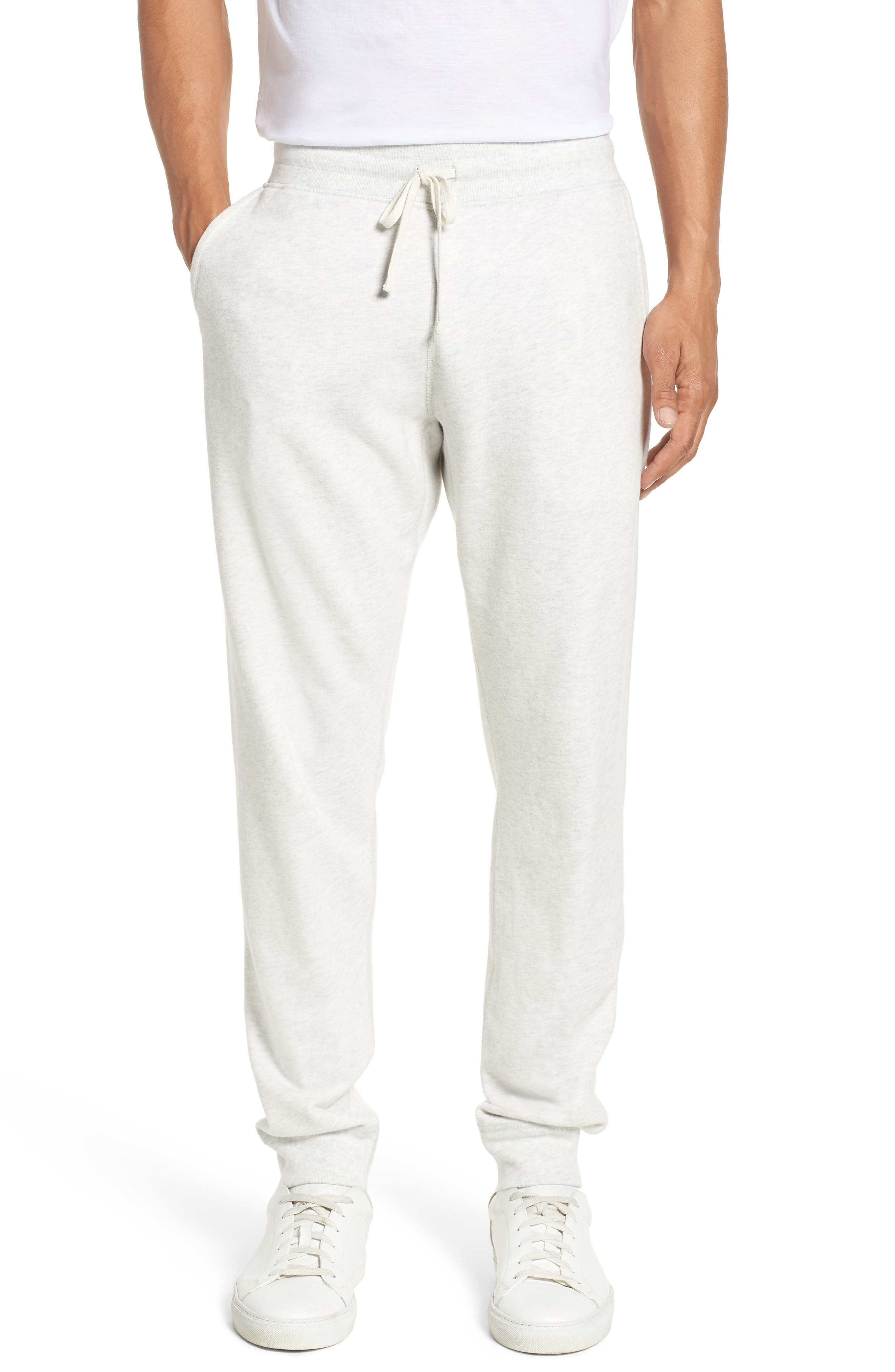 Slim Fit Sweatpants,                         Main,                         color, Heather Ash