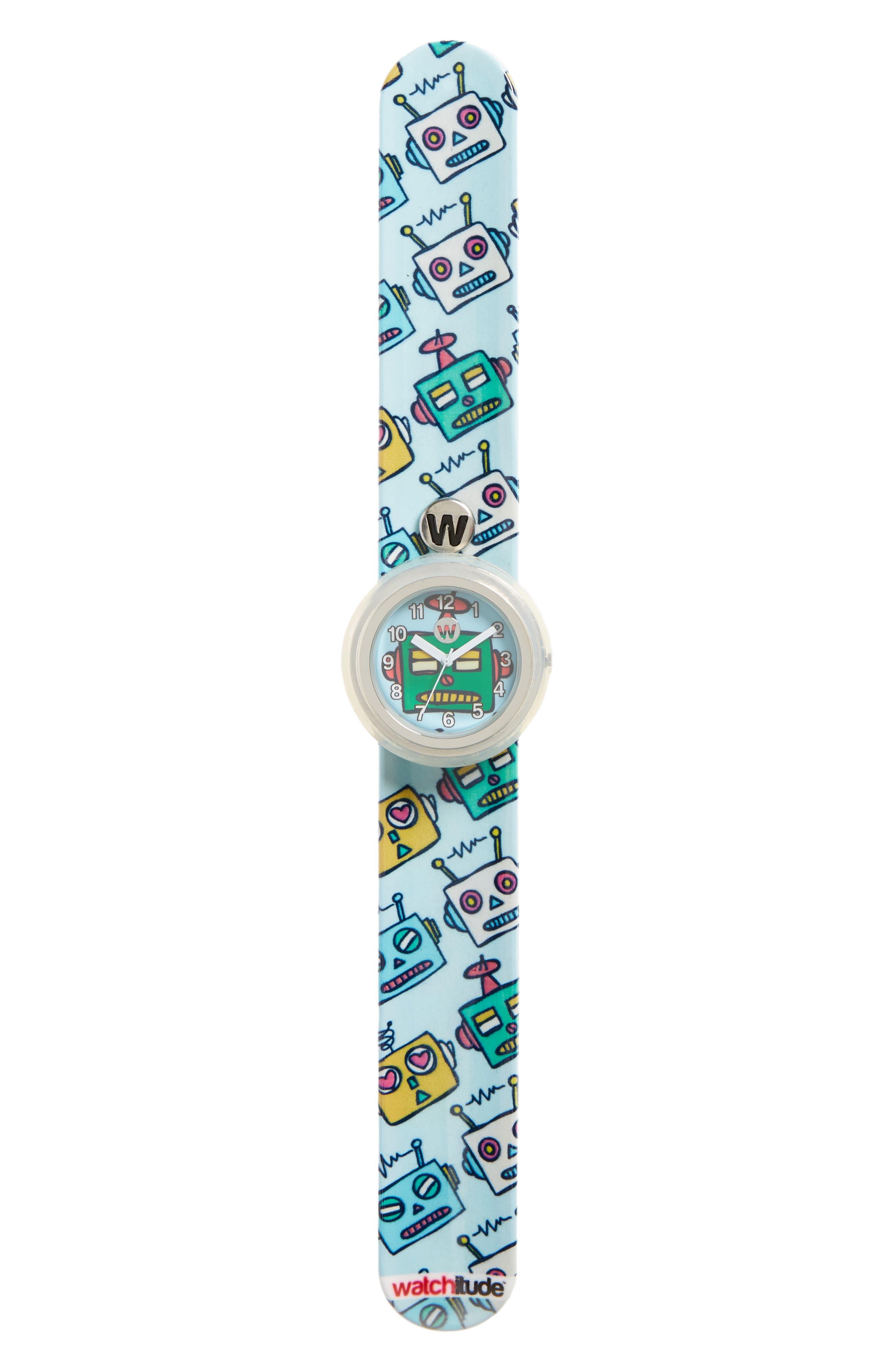Robots Slap Watch,                         Main,                         color, Blue