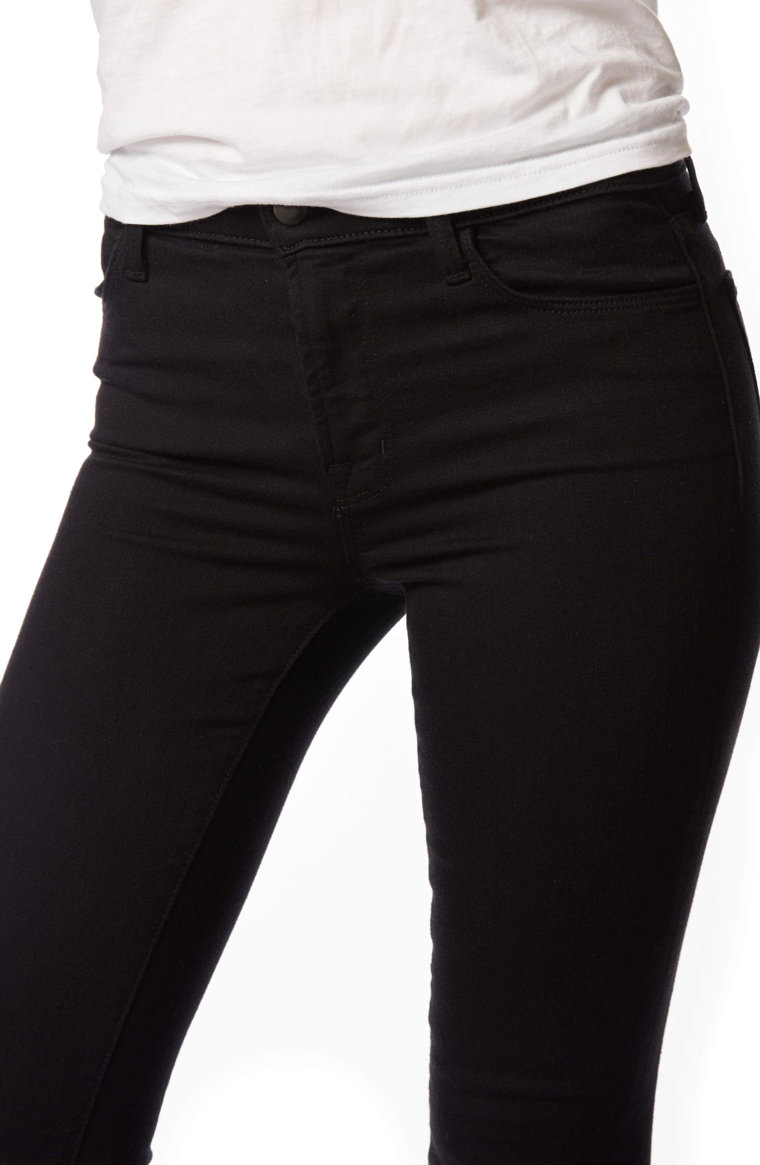 Alternate Image 4  - J Brand Maria High Waist Super Skinny Jeans (Seriously Black)