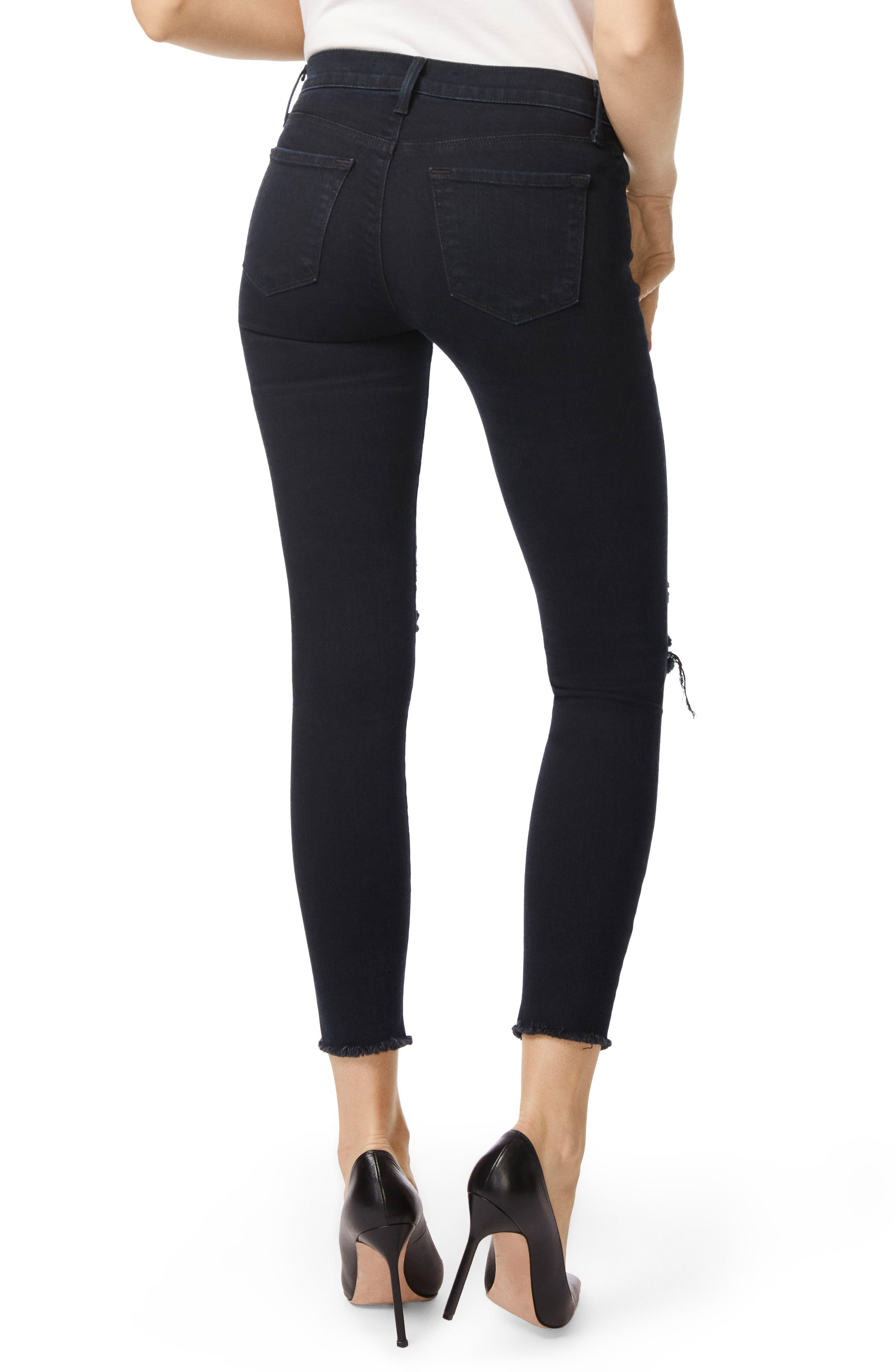 Alternate Image 2  - J Brand 8227 Destroyed Crop Skinny Ankle Jeans (Photo Ready Blue Mercy)