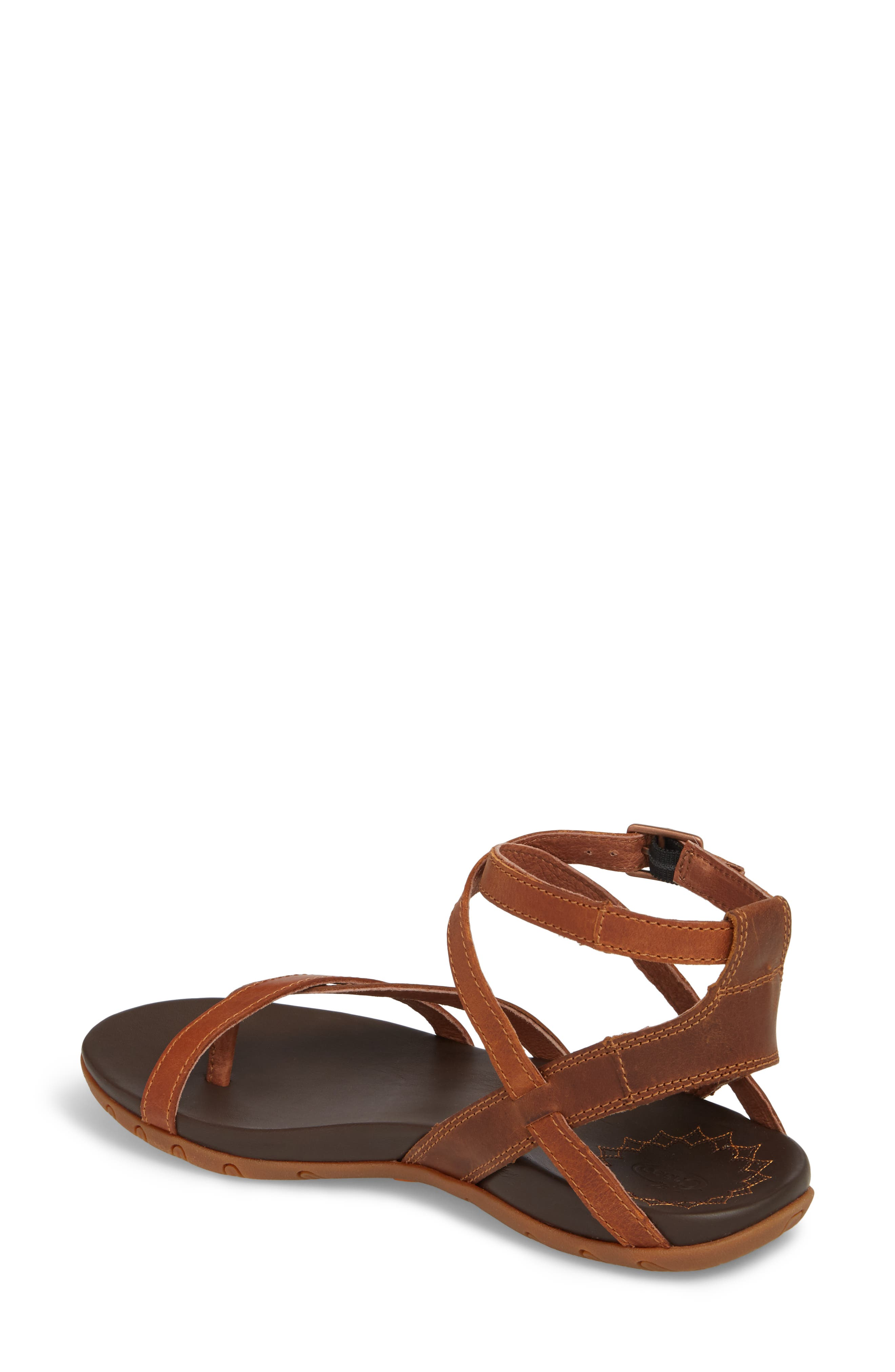 Juniper Sandal,                             Alternate thumbnail 2, color,                             Rust Leather