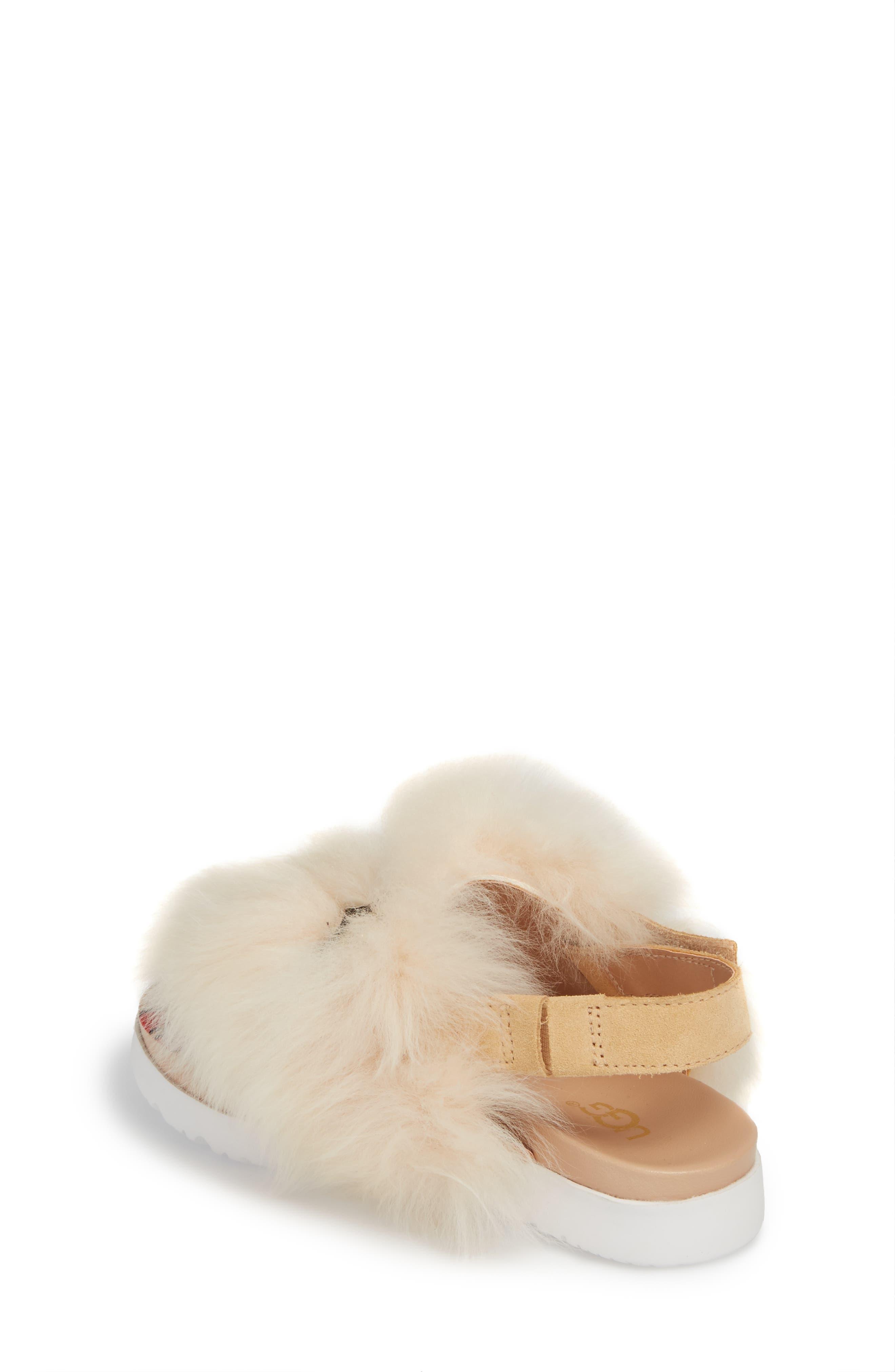 Punki Genuine Shearling Sandal,                             Alternate thumbnail 2, color,                             Natural/ Soft Ochre
