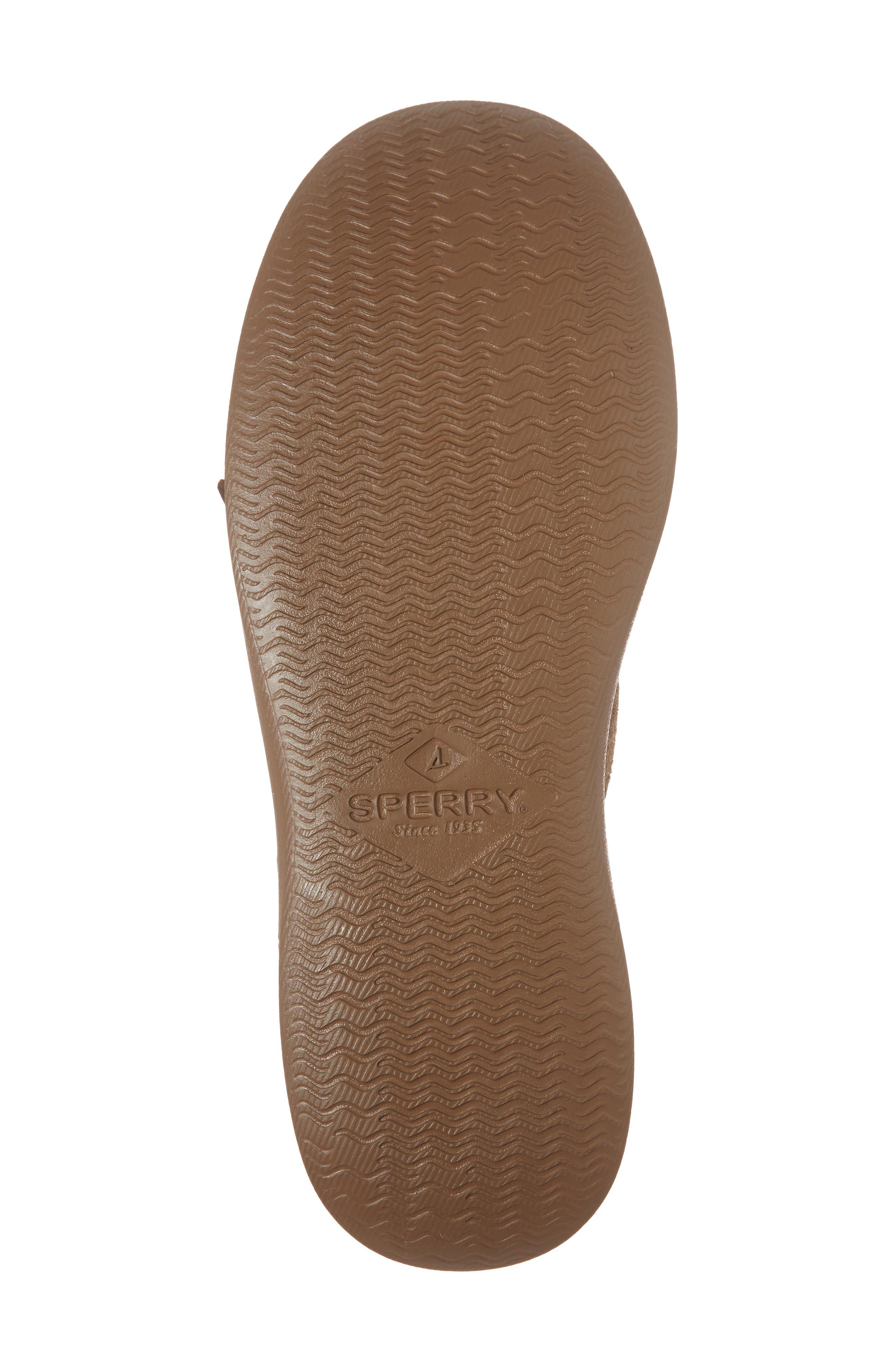 Caspian Boat Shoe,                             Alternate thumbnail 6, color,                             Tan Leather/ Suede