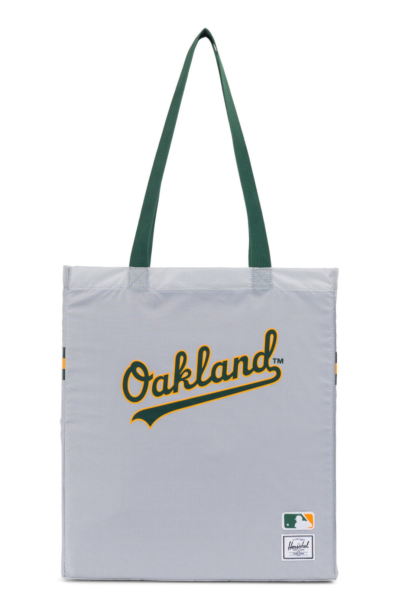 Packable - MLB American League Tote Bag,                             Main thumbnail 1, color,                             Oakland A