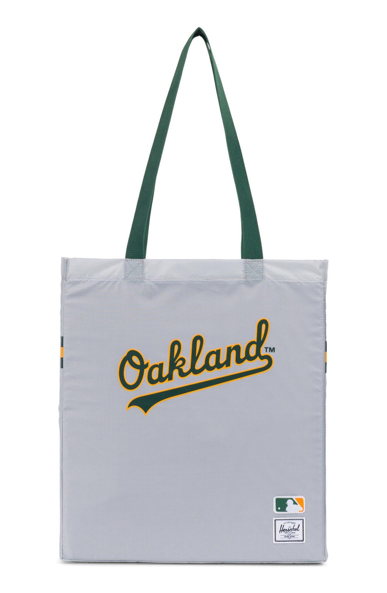 Packable - MLB American League Tote Bag,                         Main,                         color, Oakland A