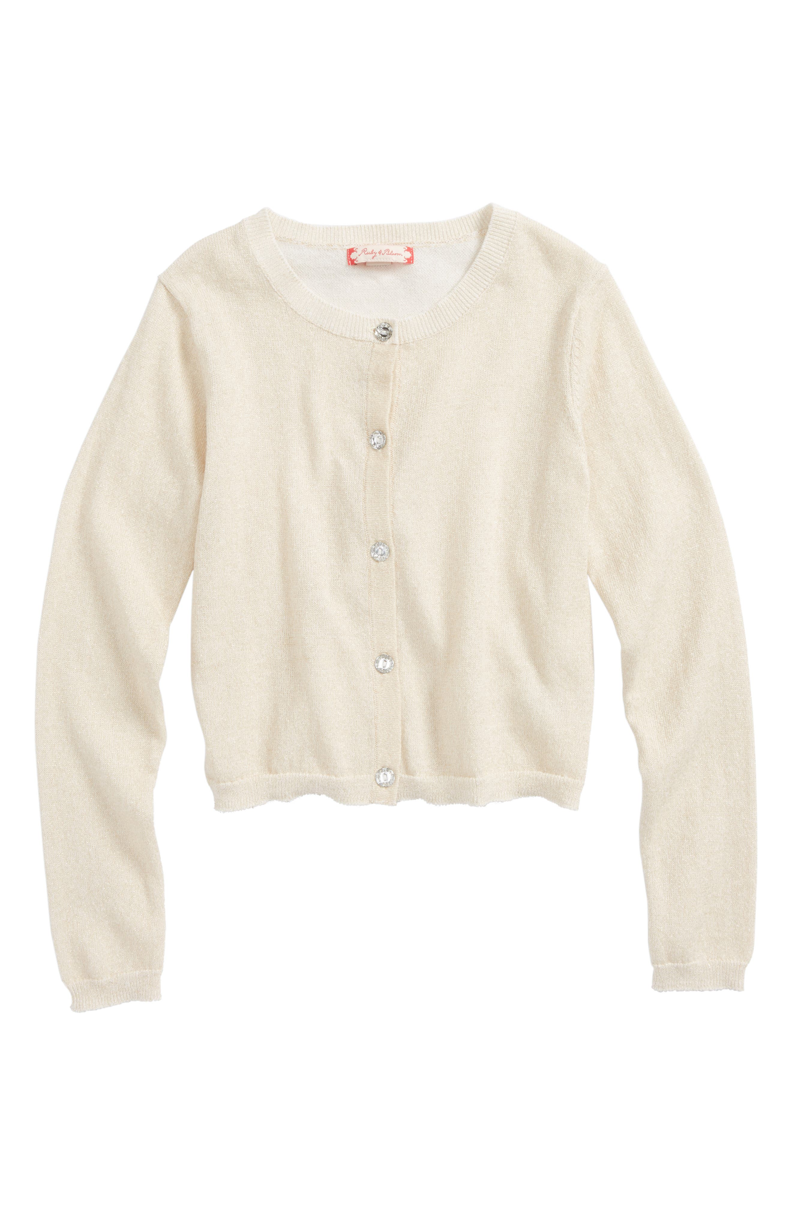 Ruby & Bloom Shimmer Cardigan (Toddler Girls, Little Girls & Big Girls)