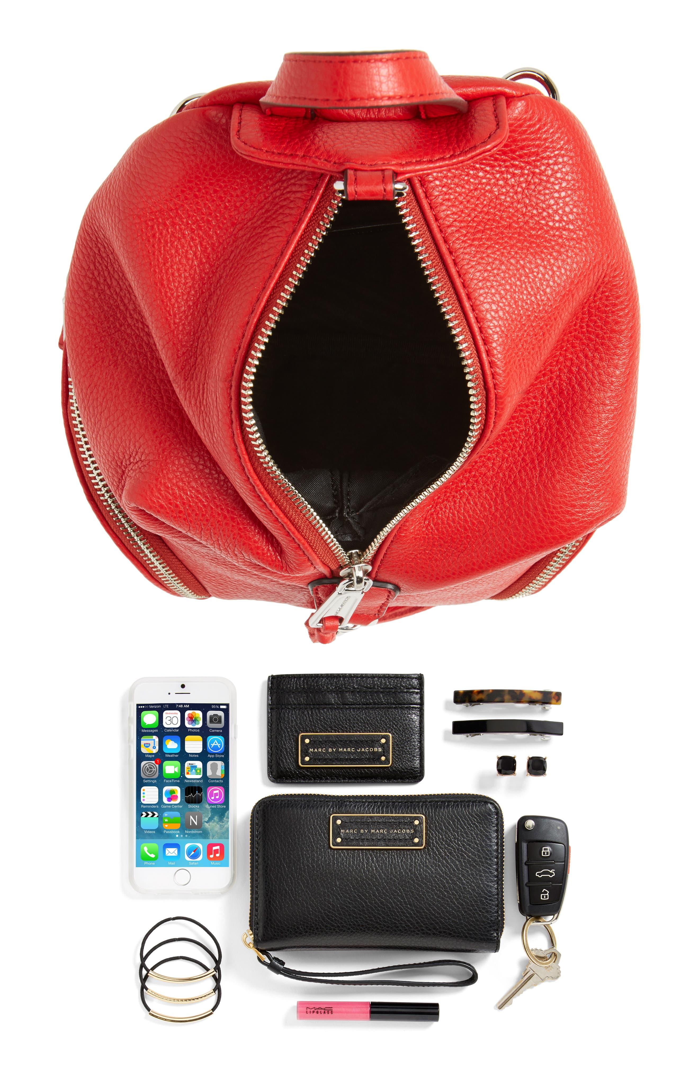 Alternate Image 7  - Rebecca Minkoff Mini Julian Nubuck Leather Convertible Backpack