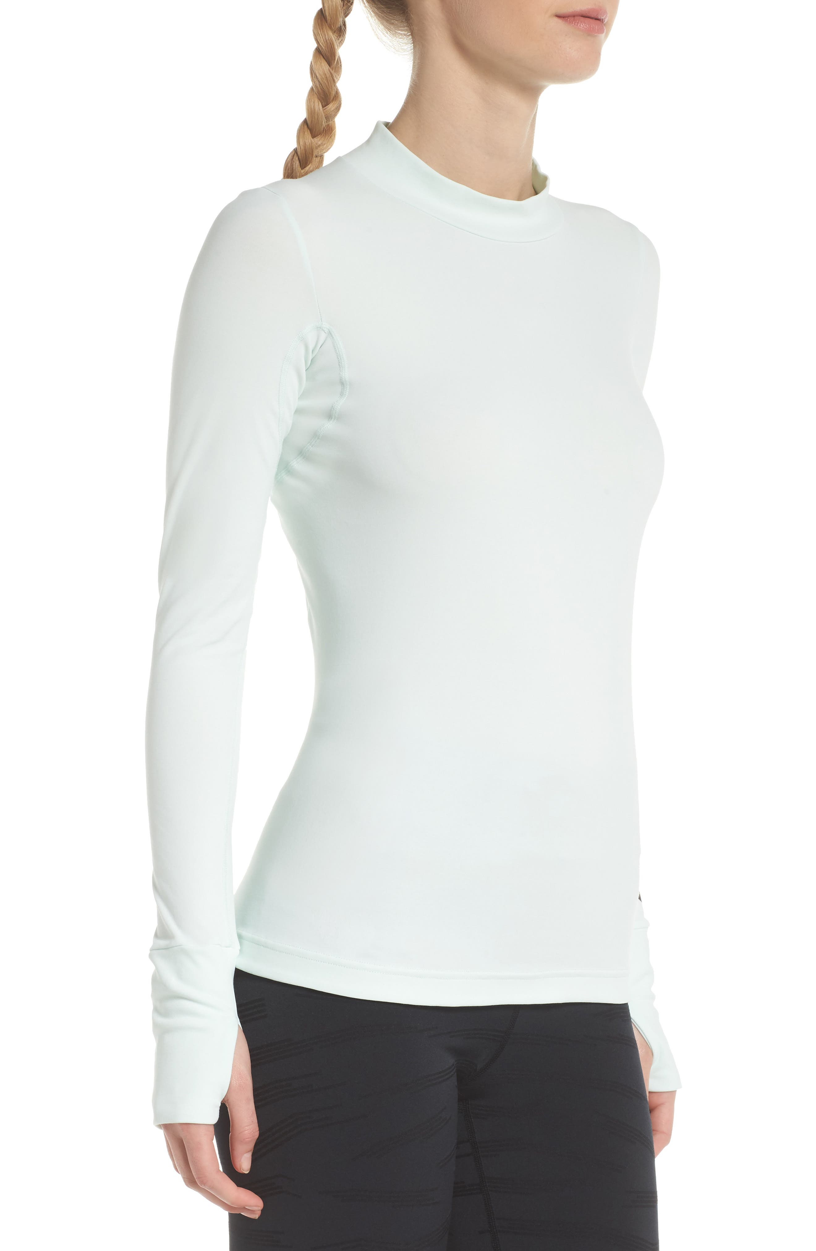 NikeLab ACG Long Sleeve Women's Top,                             Alternate thumbnail 3, color,                             Barely Green/ Black
