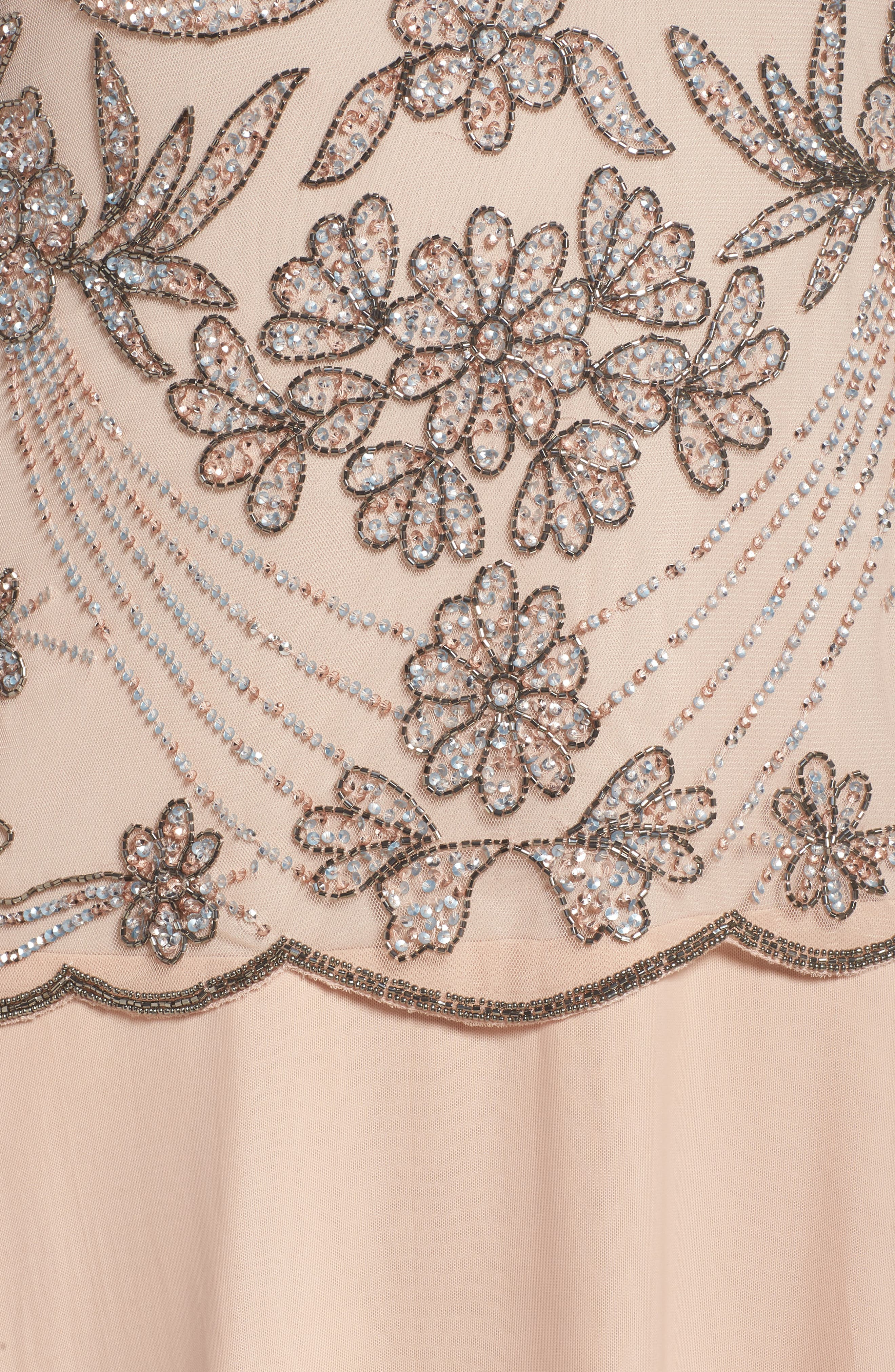 Embellished Illusion Bodice Gown,                             Alternate thumbnail 5, color,                             Blush