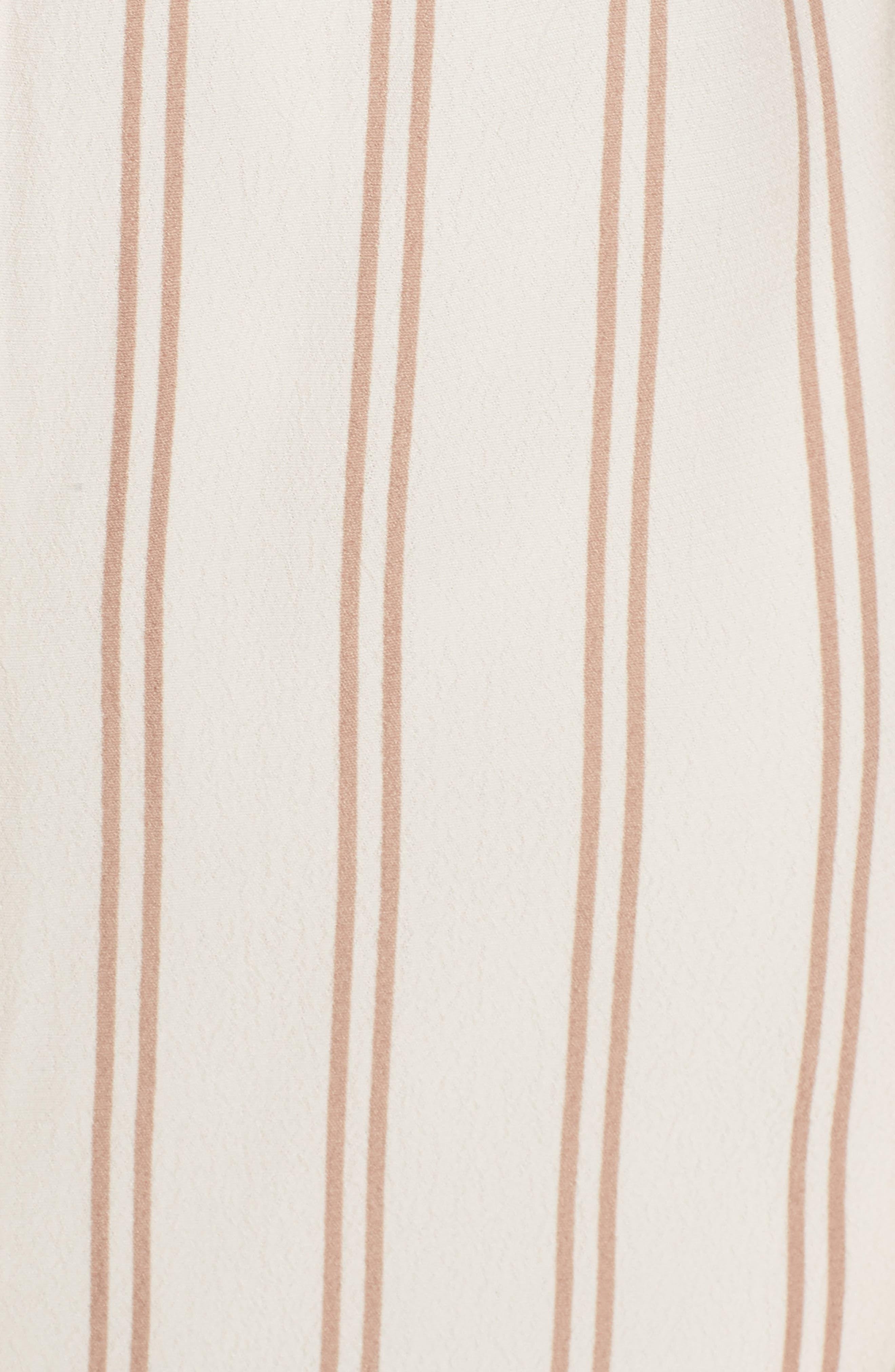 Stripe Off the Shoulder Dress,                             Alternate thumbnail 5, color,                             Ivory Egret Emily Stripe