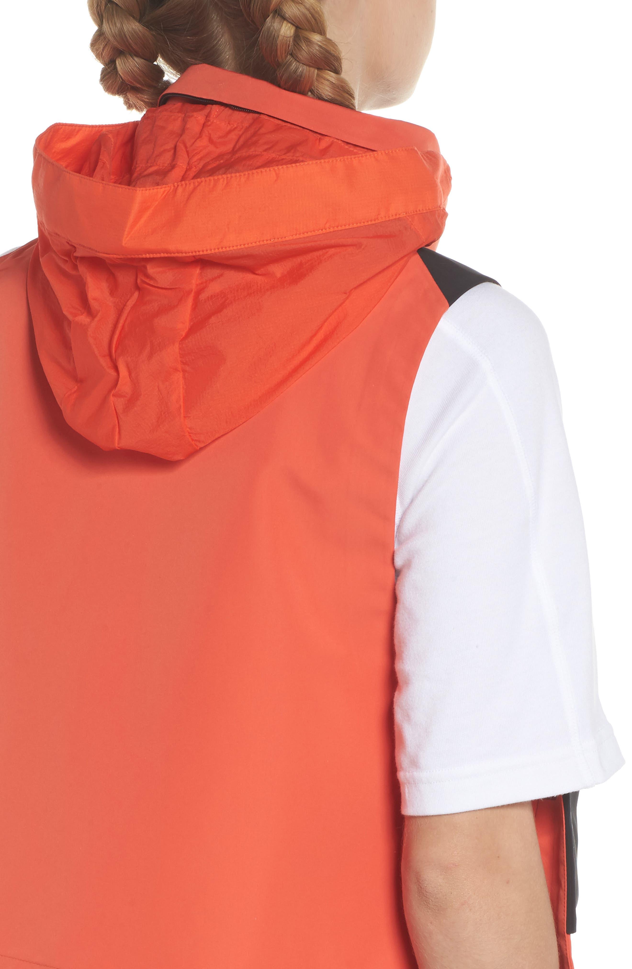 NikeLab ACG Water Repellent Women's Hooded Vest,                             Alternate thumbnail 6, color,                             Team Orange/ Team Orange