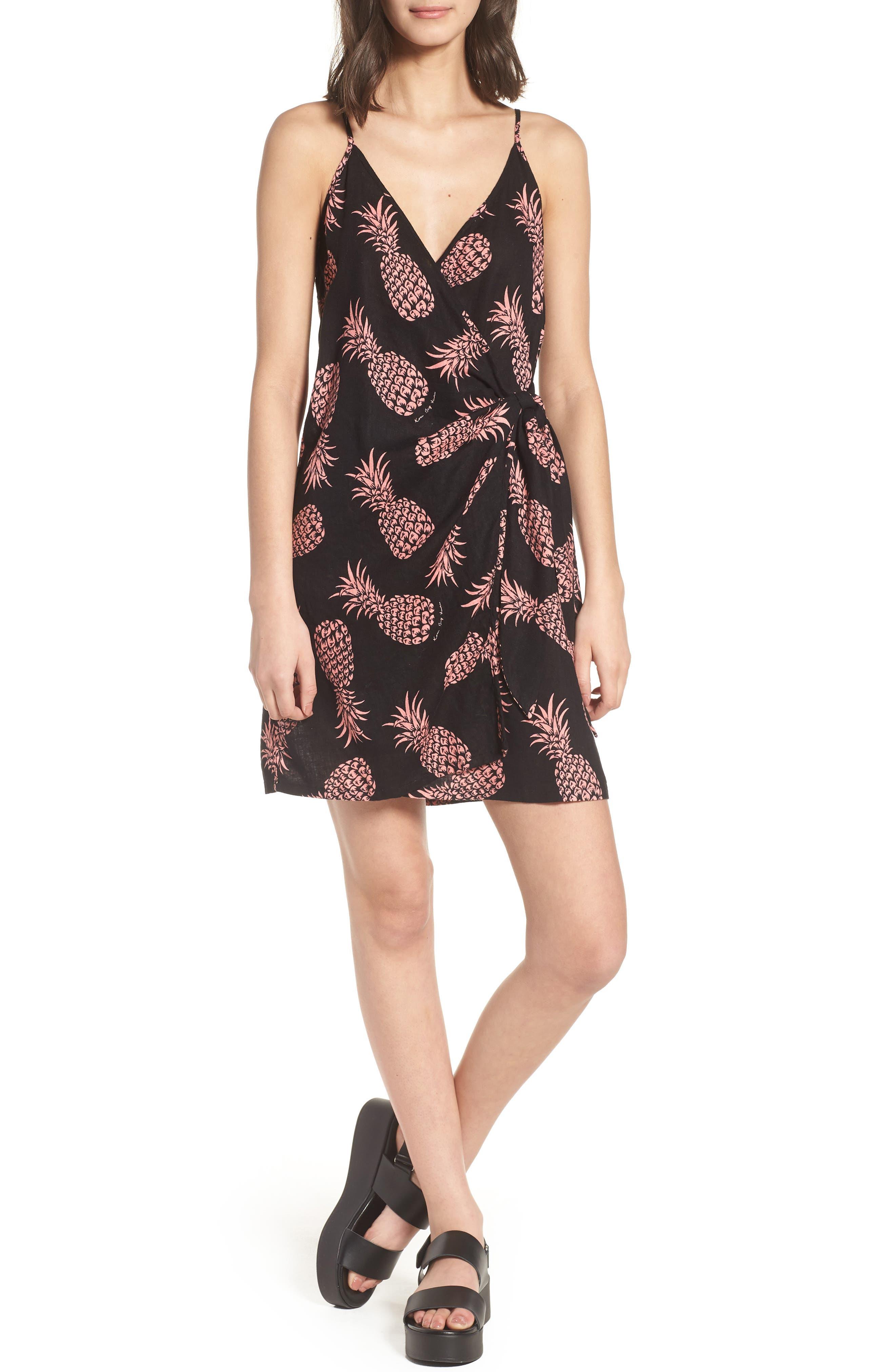 Malia Wrap Dress,                         Main,                         color, Pinya Print