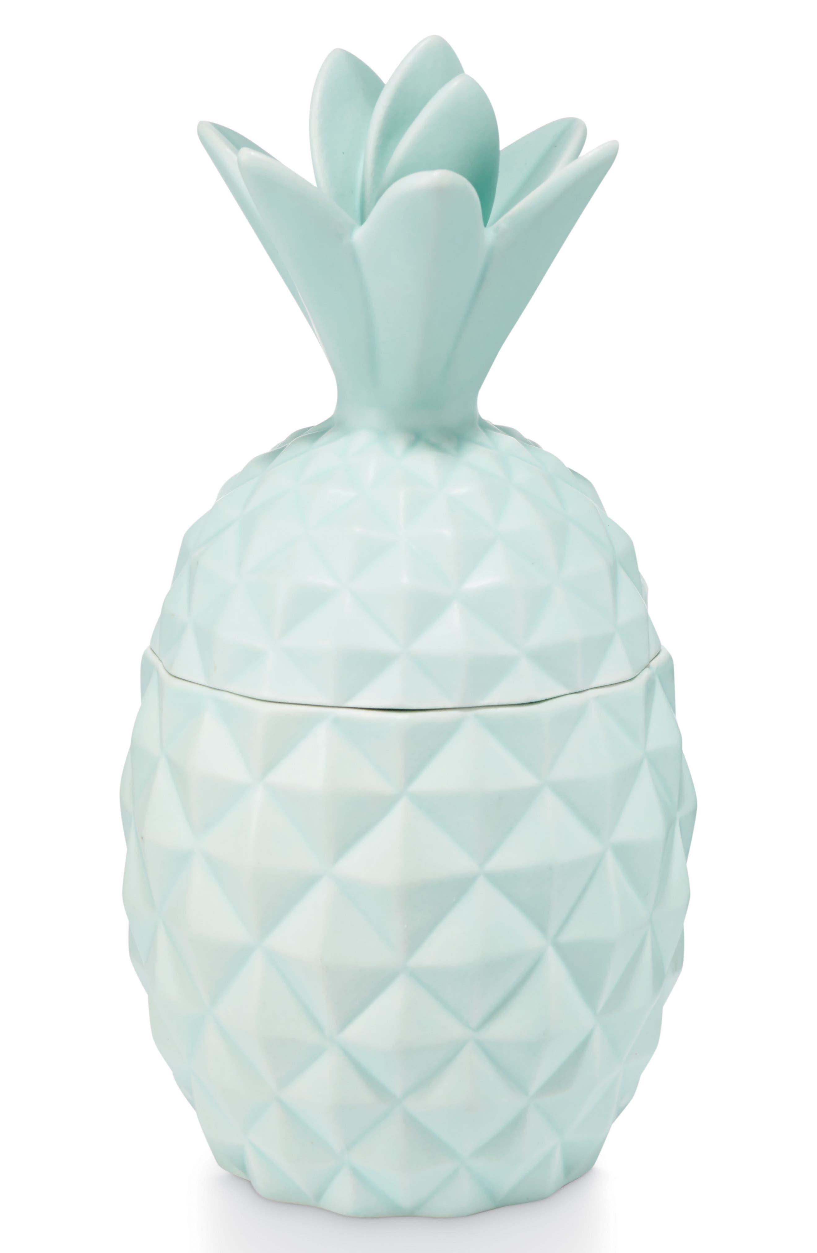 Ceramic Pineapple Jar Candle,                             Main thumbnail 1, color,                             Sugared Blossom