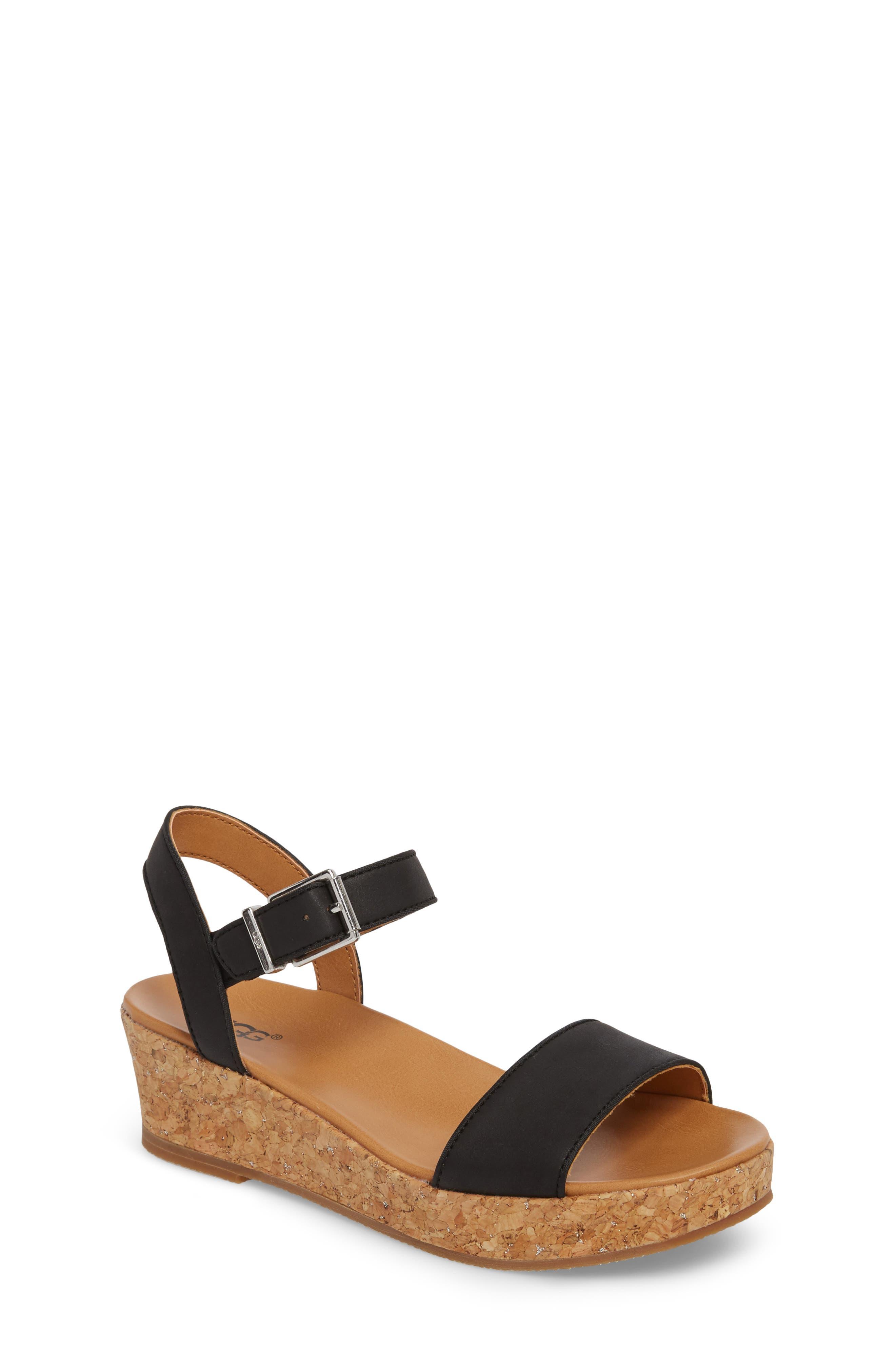 UGG® Milley Wedge Sandal (Toddler, Little Kid & Big Kid)