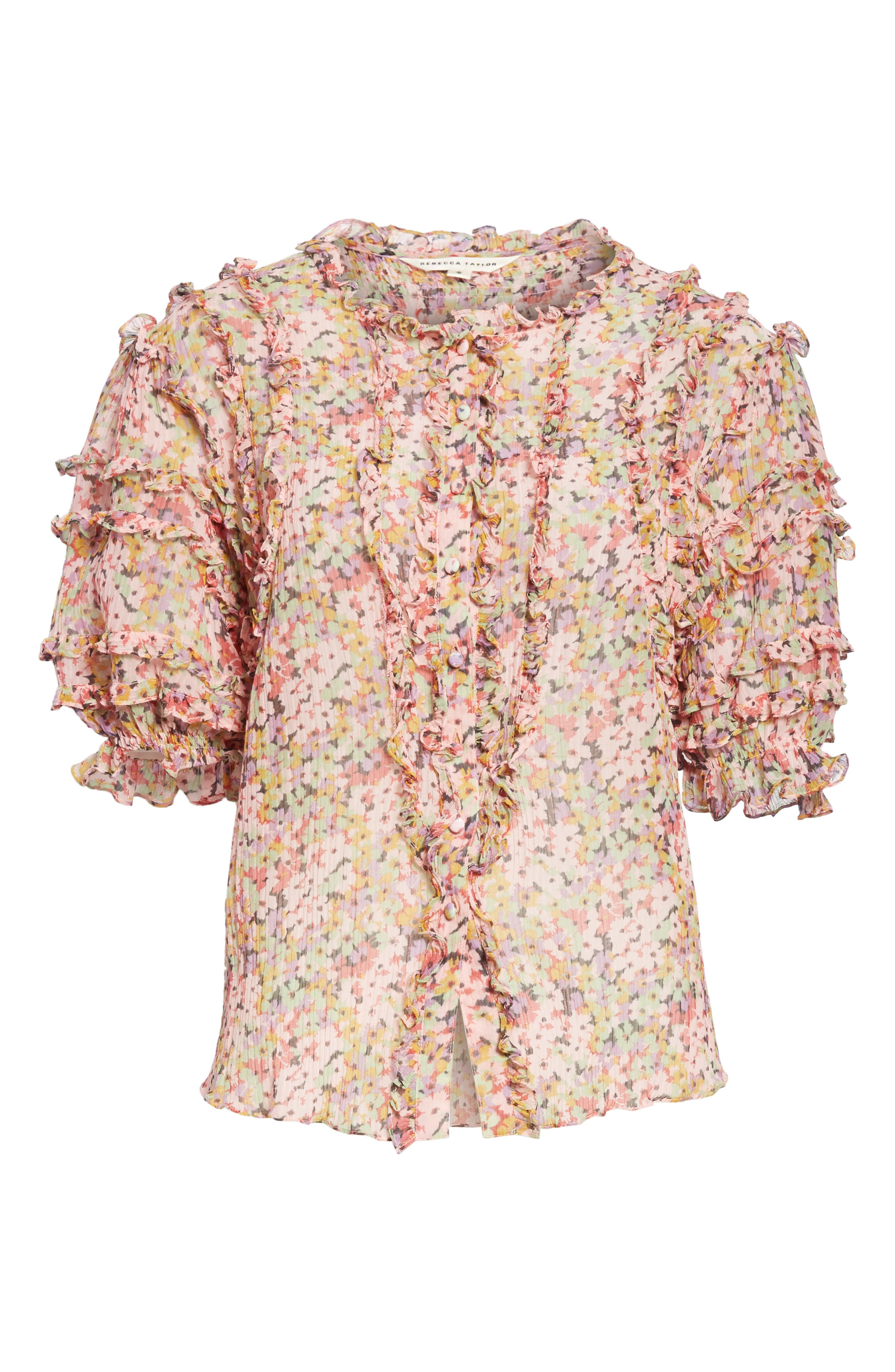 Margo Ruffle Floral Top,                             Alternate thumbnail 6, color,                             Multi Combo
