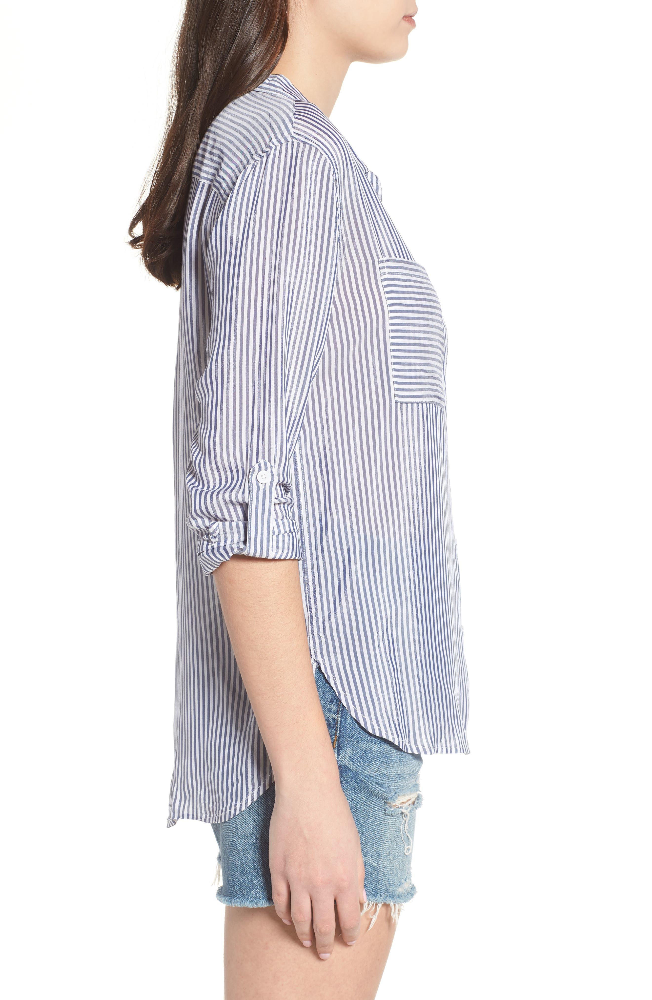 Zinc Stripe Shirt,                             Alternate thumbnail 3, color,                             Blue Stripe