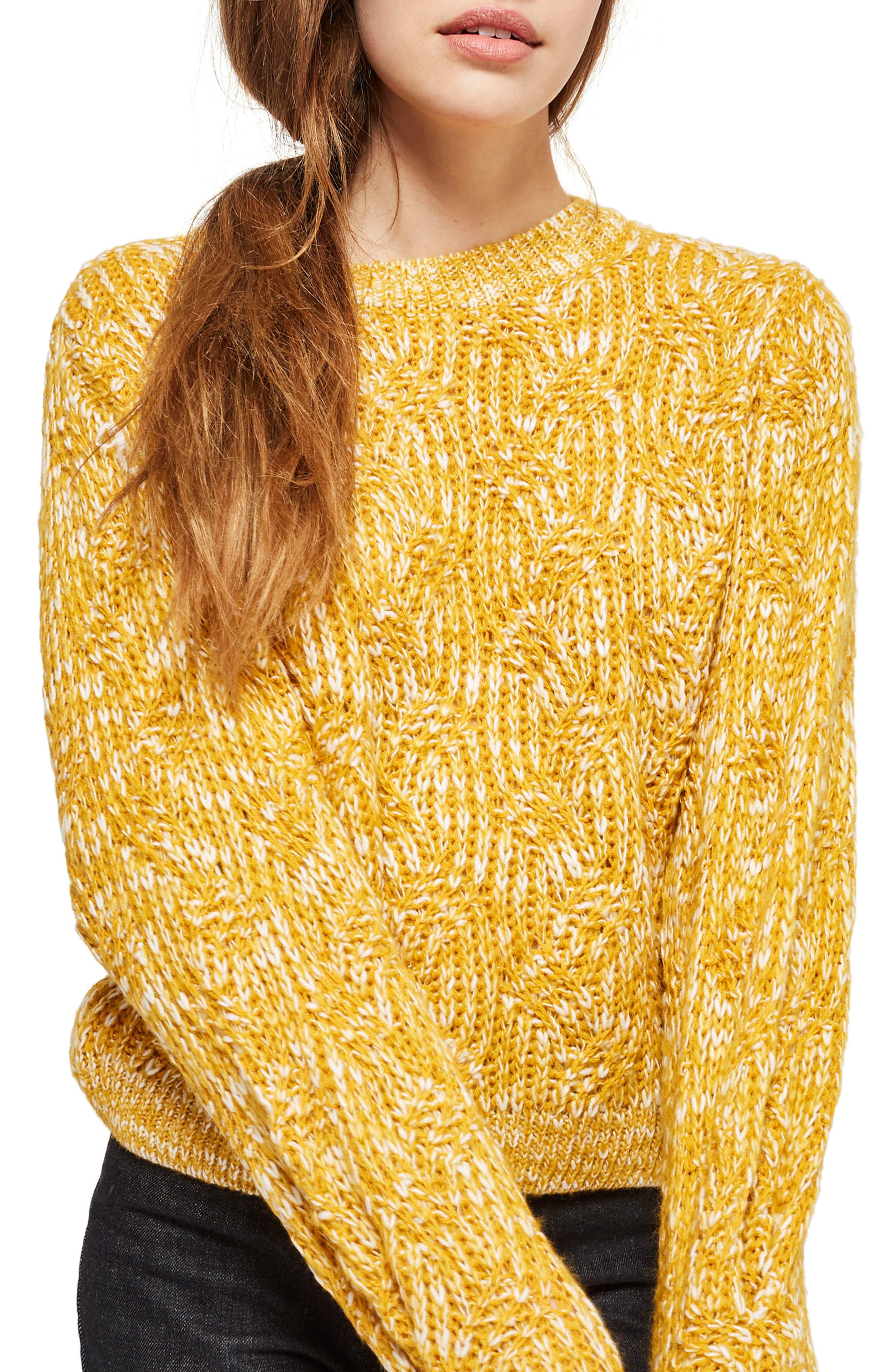 Topshop Swirl Tuck Sweater