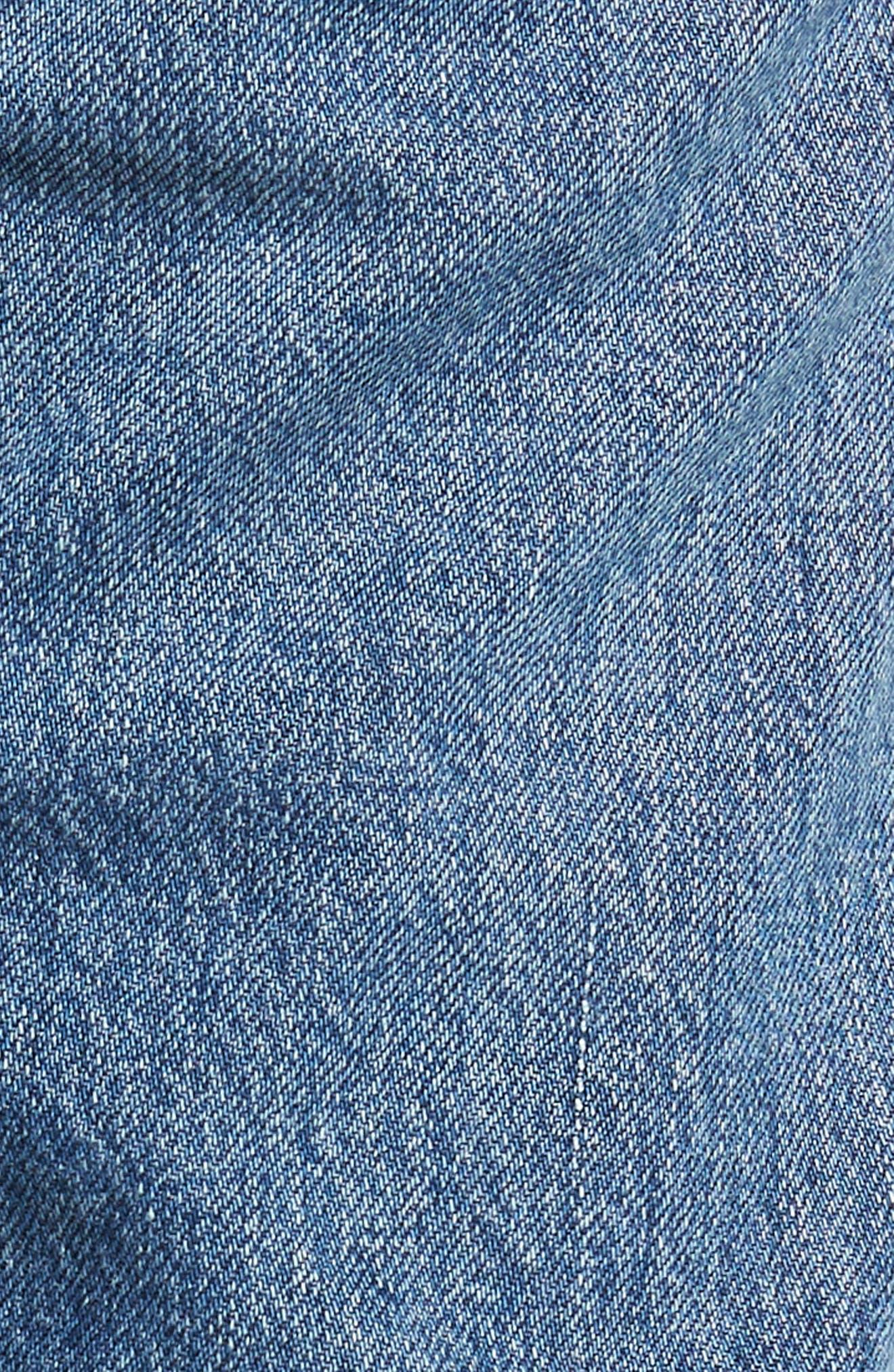 Liya High Waist Slim Boyfriend Jeans,                             Alternate thumbnail 6, color,                             Admire