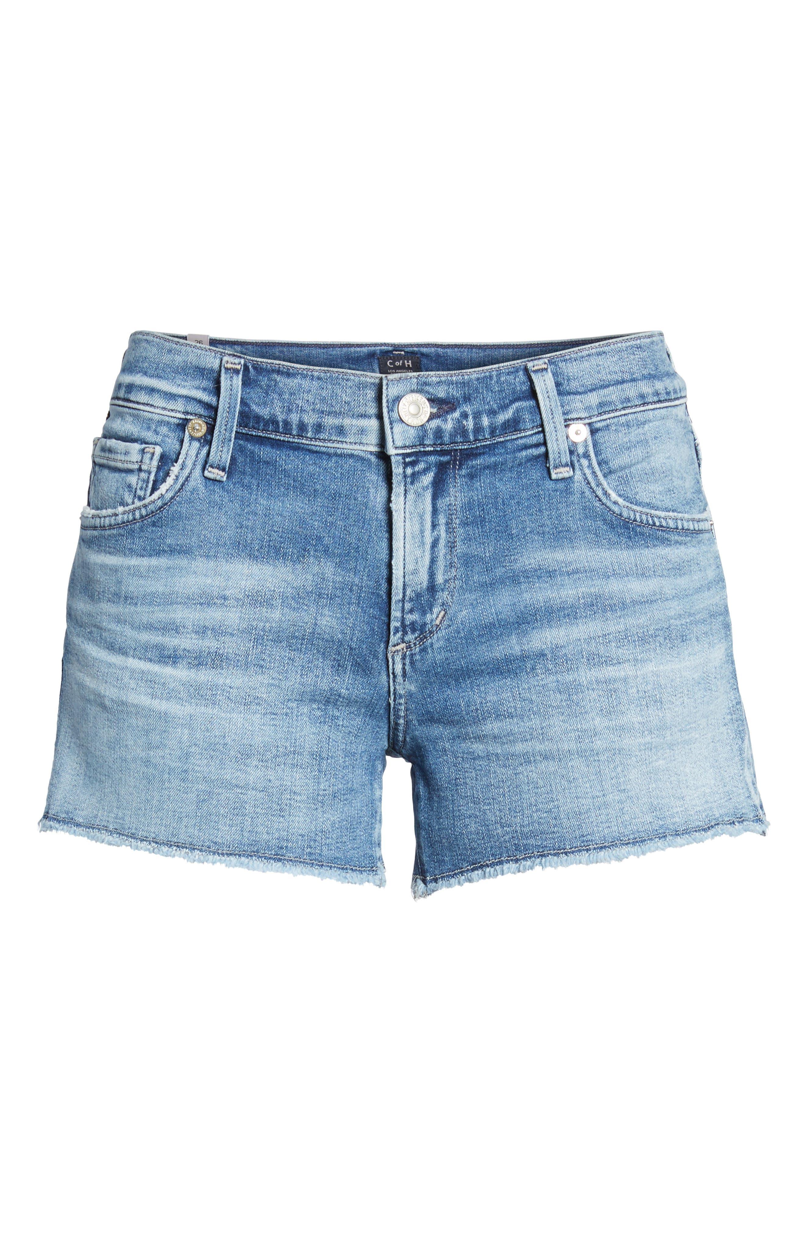 Ava Cutoff Denim Shorts,                             Alternate thumbnail 7, color,                             Pacifica