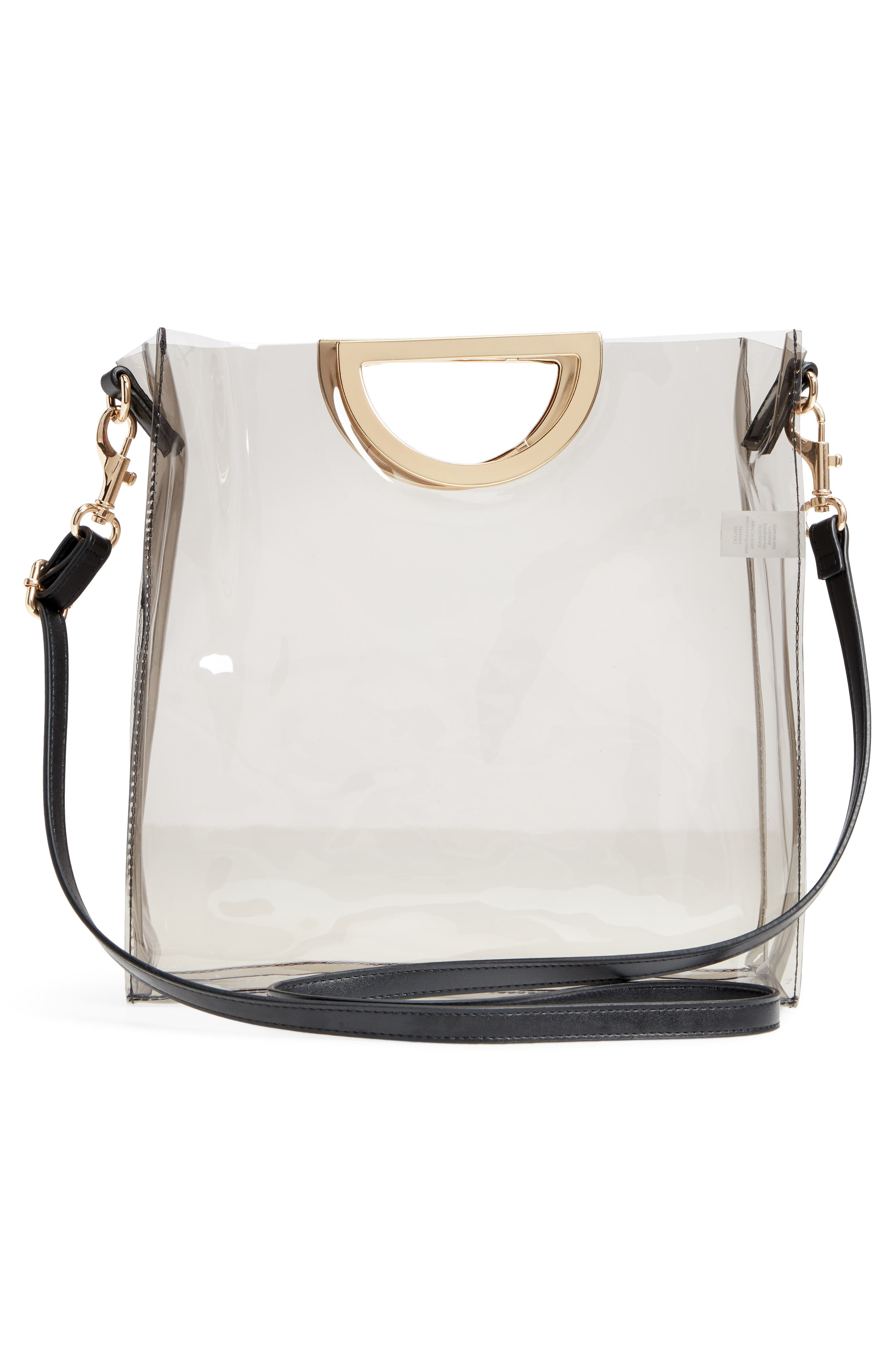 Alternate Image 3  - BP. Mini Translucent Metal Handle Bag