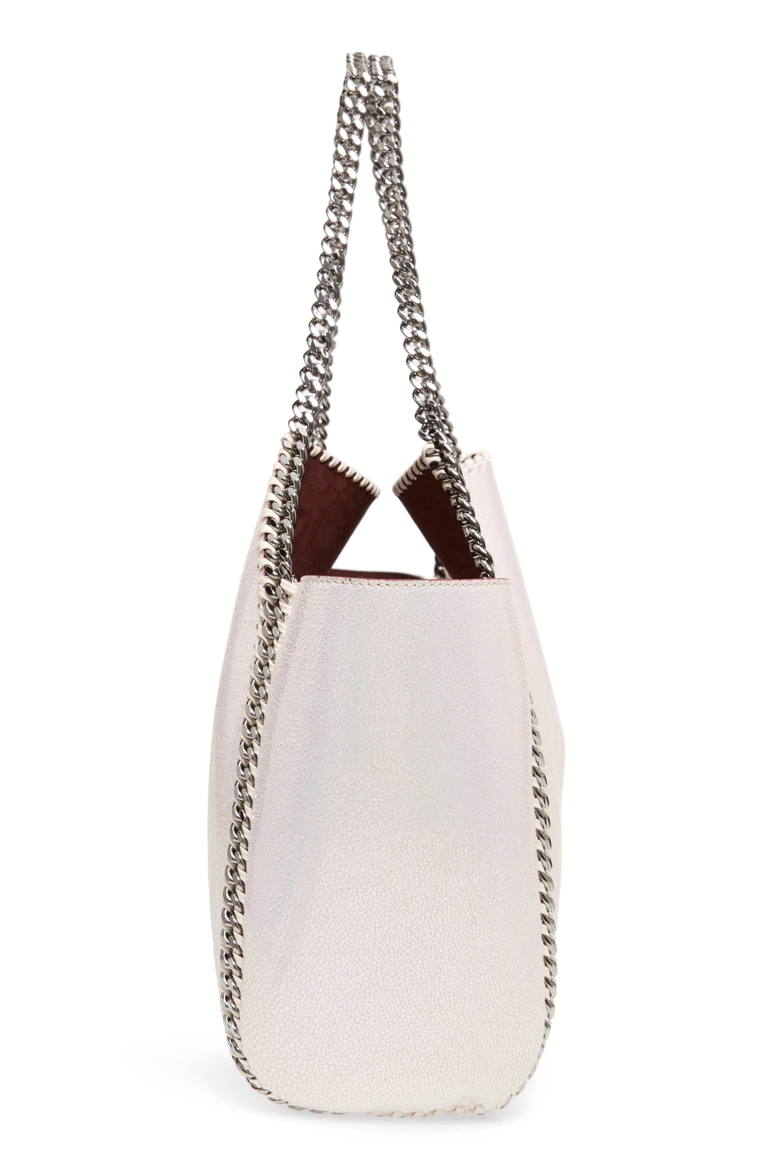 Small Oleo Deer Reversible Faux Leather Tote,                             Alternate thumbnail 5, color,                             Oleo Holographic