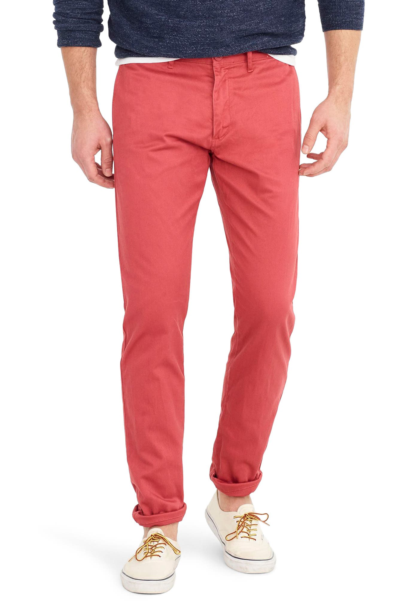 Alternate Image 1 Selected - J.Crew 484 Slim Fit Stretch Chino Pants