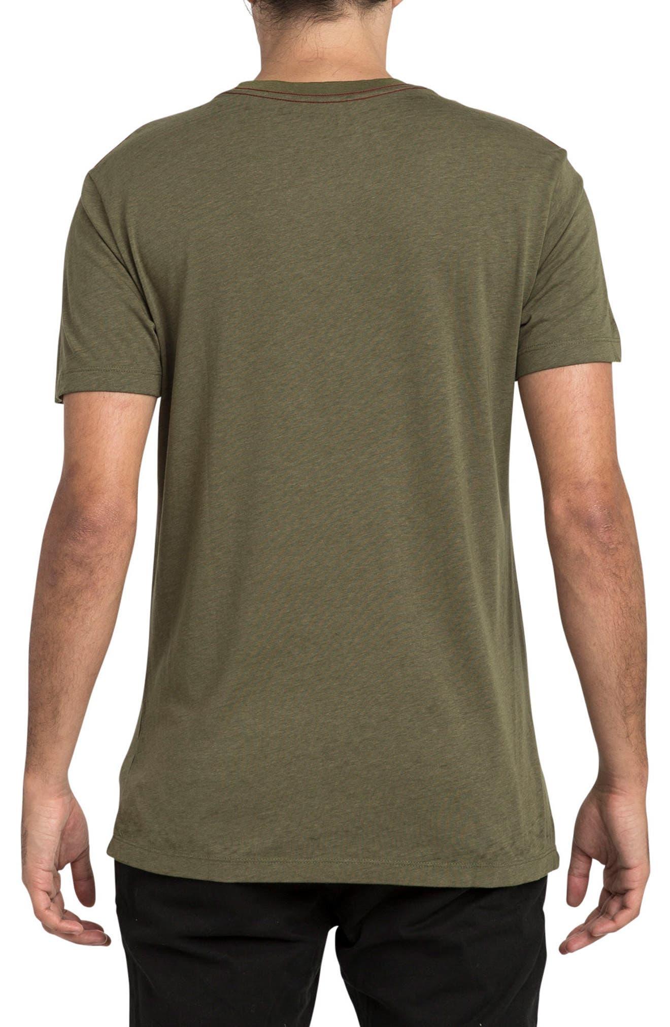 Tri Motors Burnout Graphic T-Shirt,                             Alternate thumbnail 2, color,                             Burnt Olive