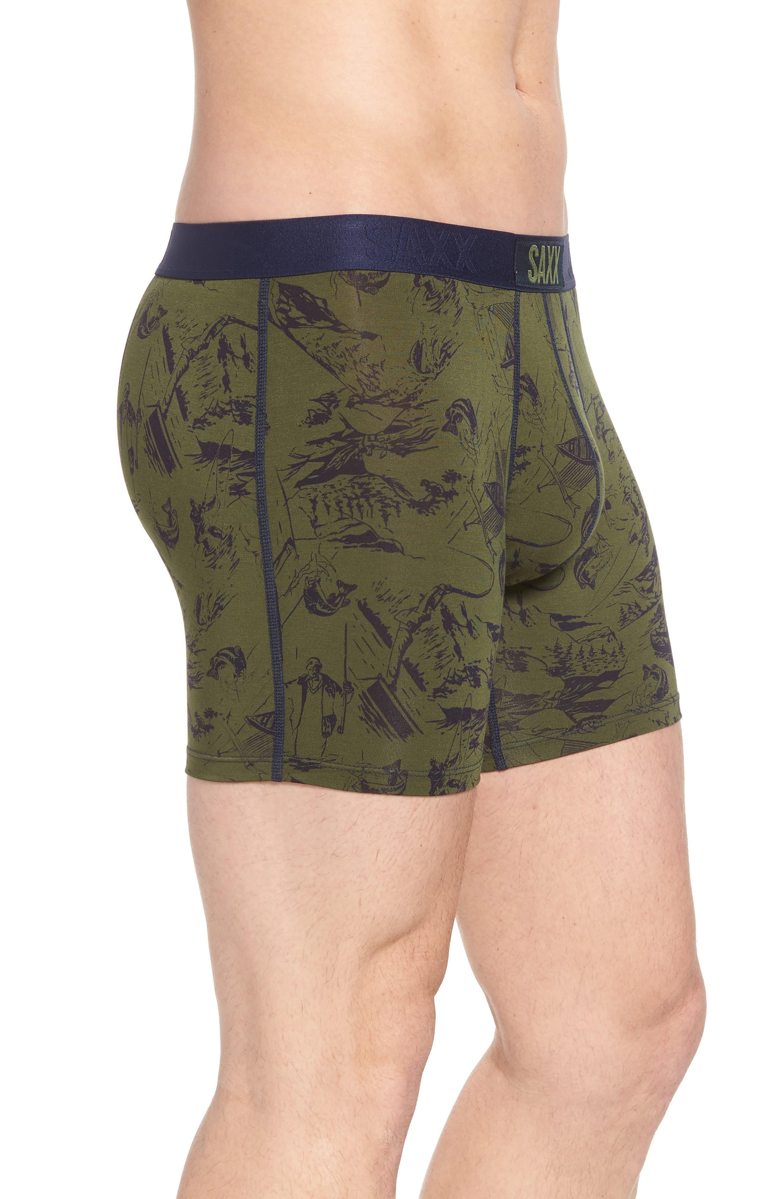 Vibe Stretch Boxer Briefs,                             Alternate thumbnail 3, color,                             Green Fisherman