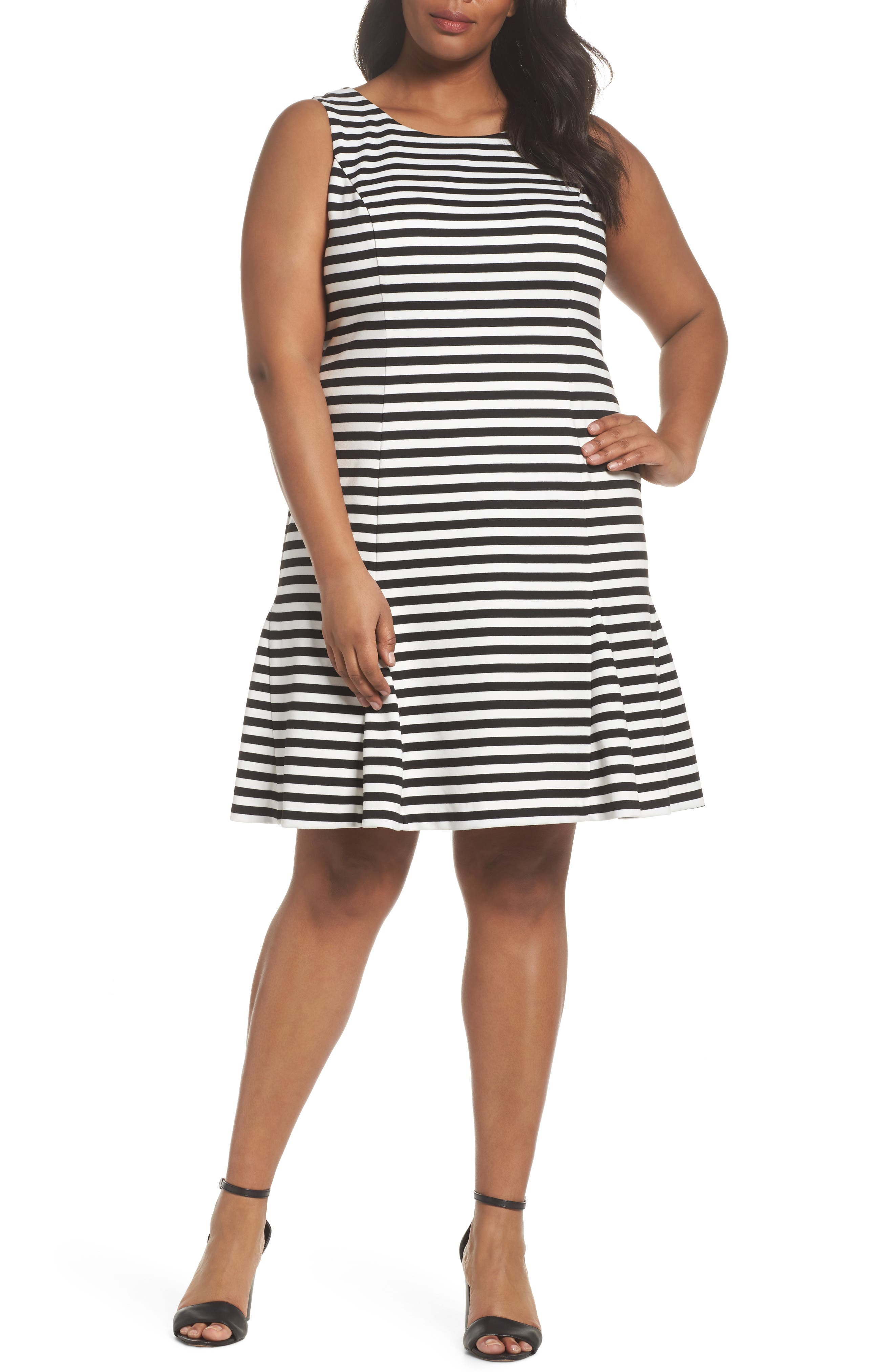 Vince Camuto Godet Body-Con Dress (Plus Size)