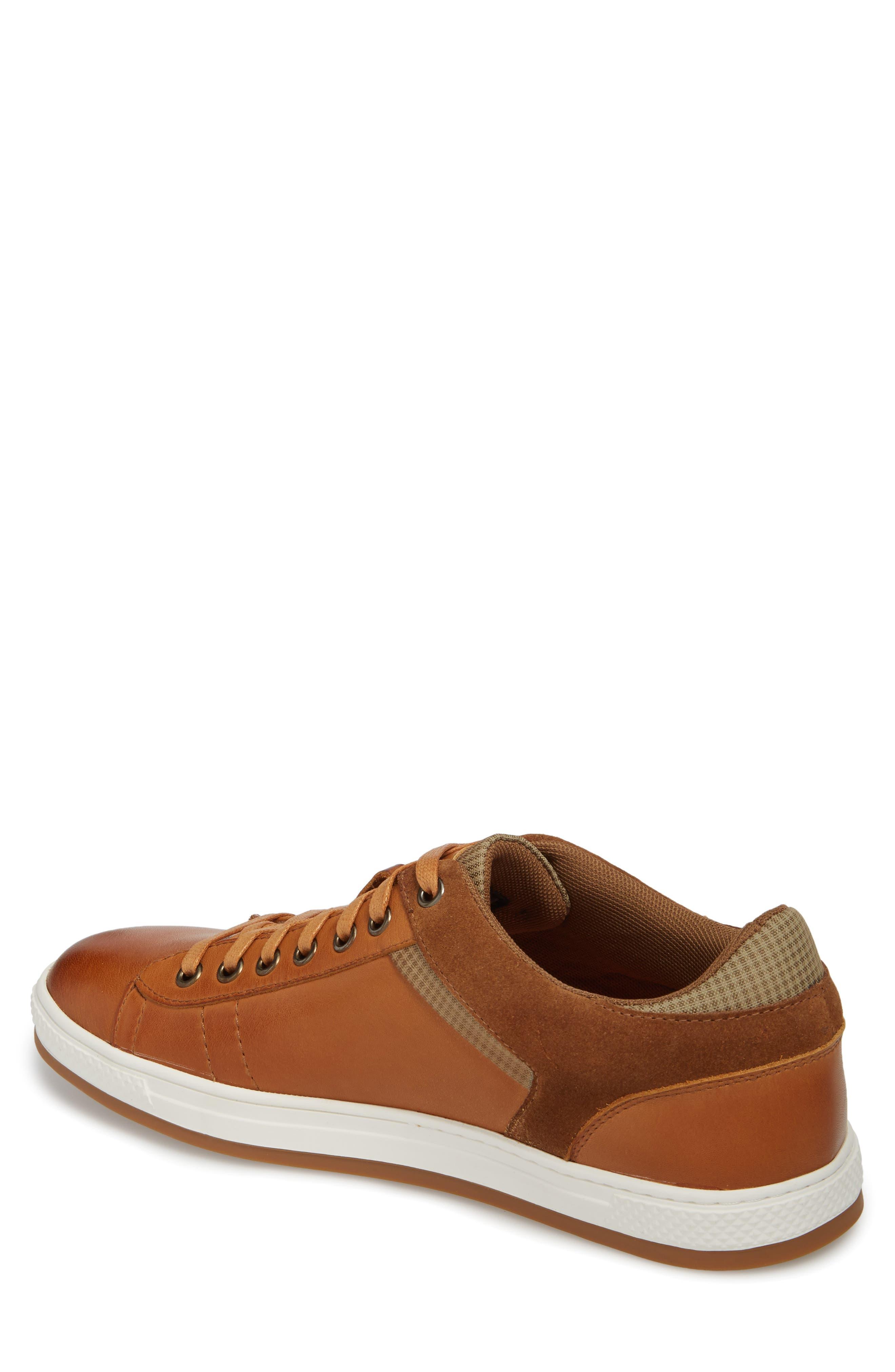 Ireton Low Top Sneaker,                             Alternate thumbnail 2, color,                             Cognac Leather/ Suede