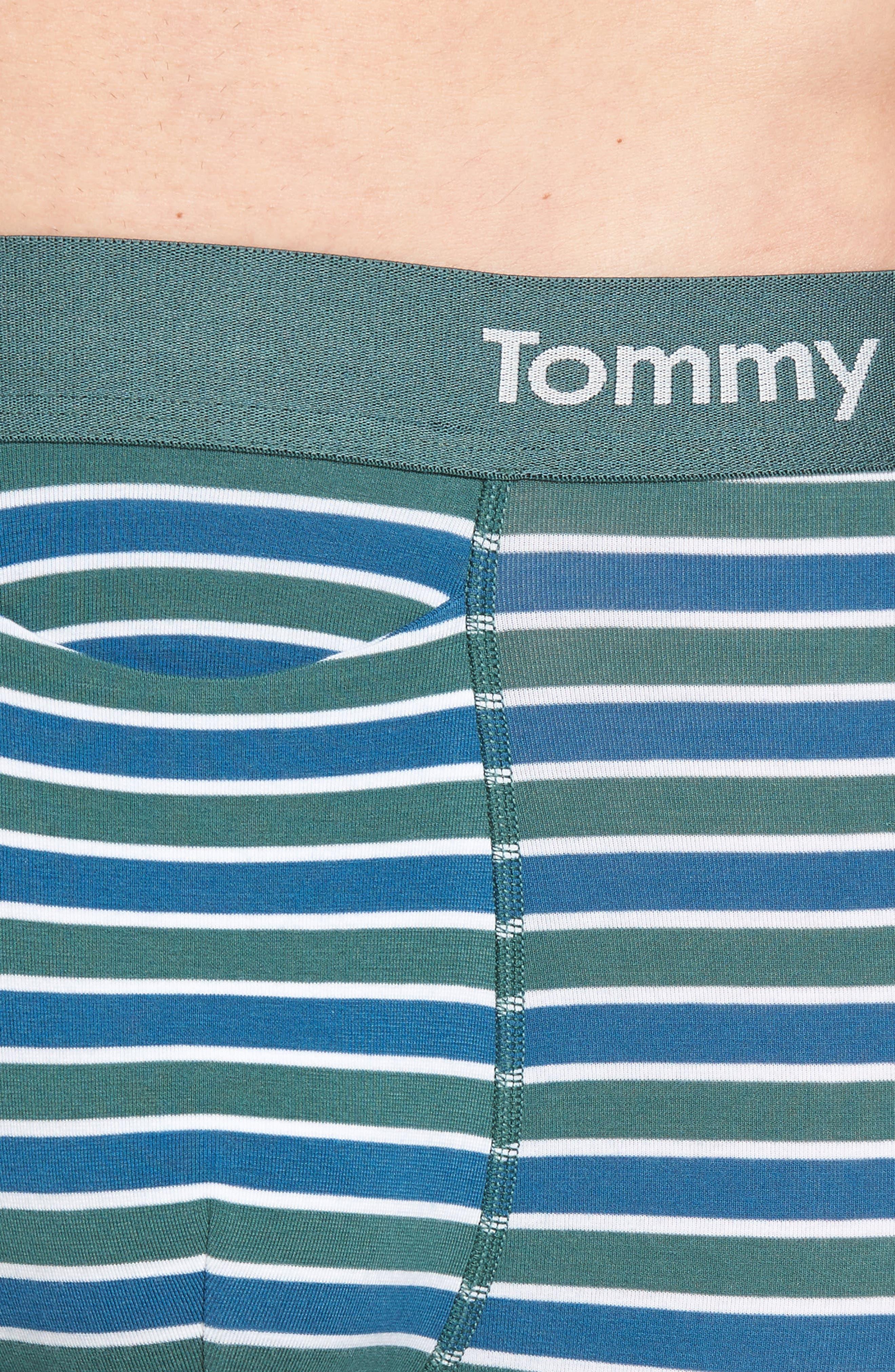Team Stripe Trunks,                             Alternate thumbnail 4, color,                             Agave/ White/ Deep Blue