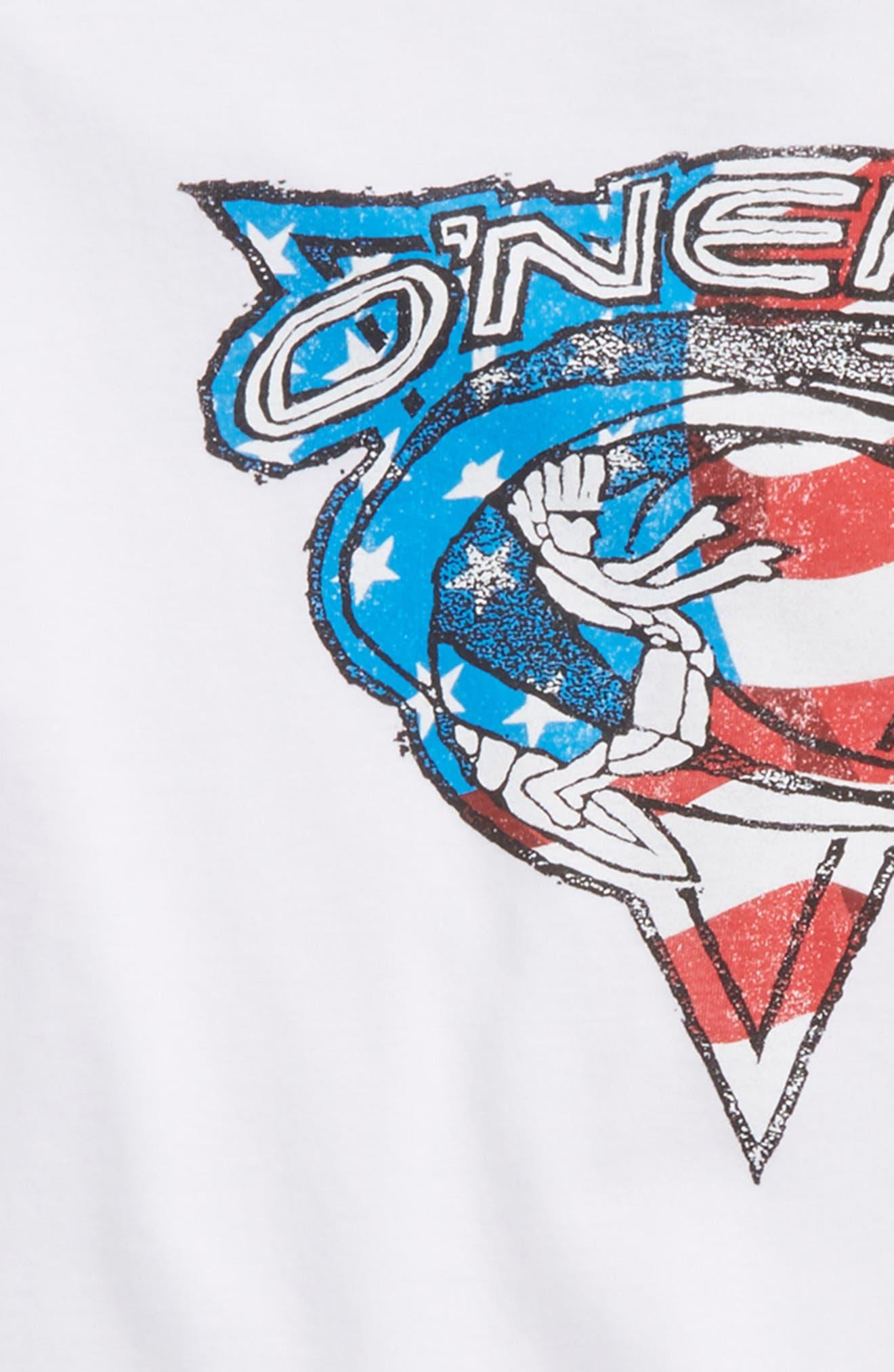 Patriot Graphic T-Shirt,                             Alternate thumbnail 2, color,                             White