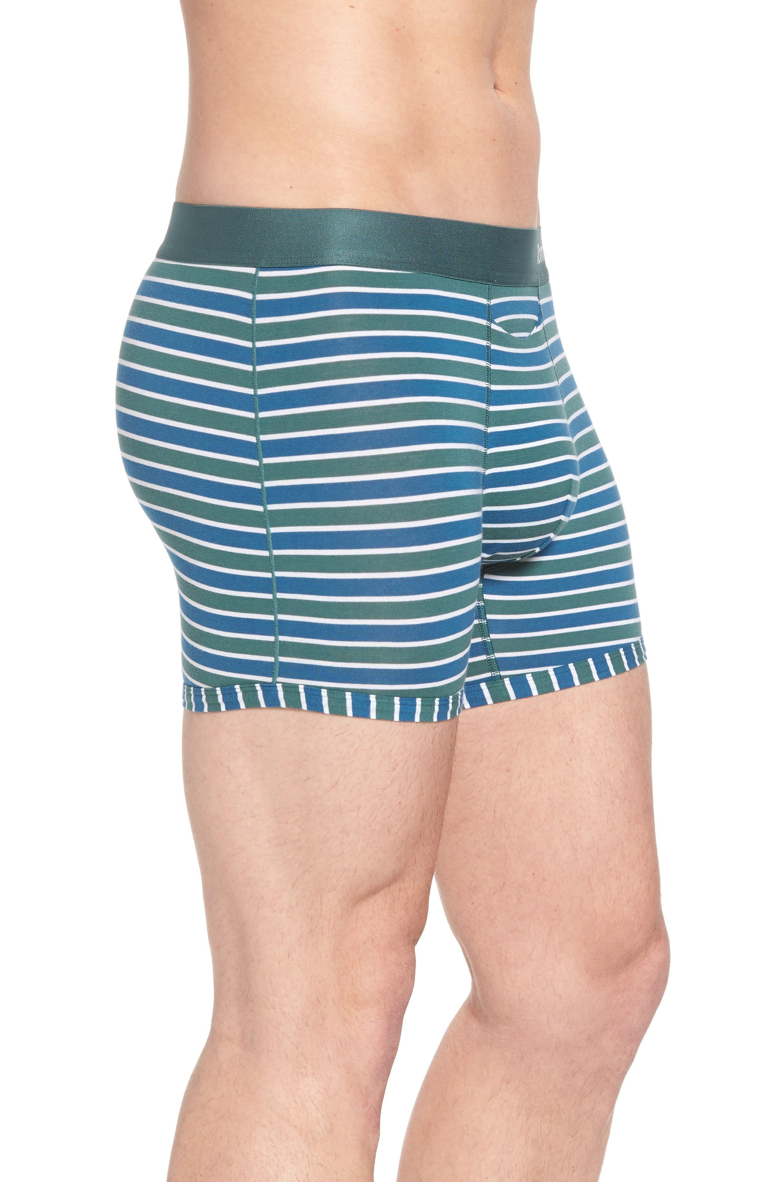 Team Stripe Trunks,                             Alternate thumbnail 3, color,                             Agave/ White/ Deep Blue