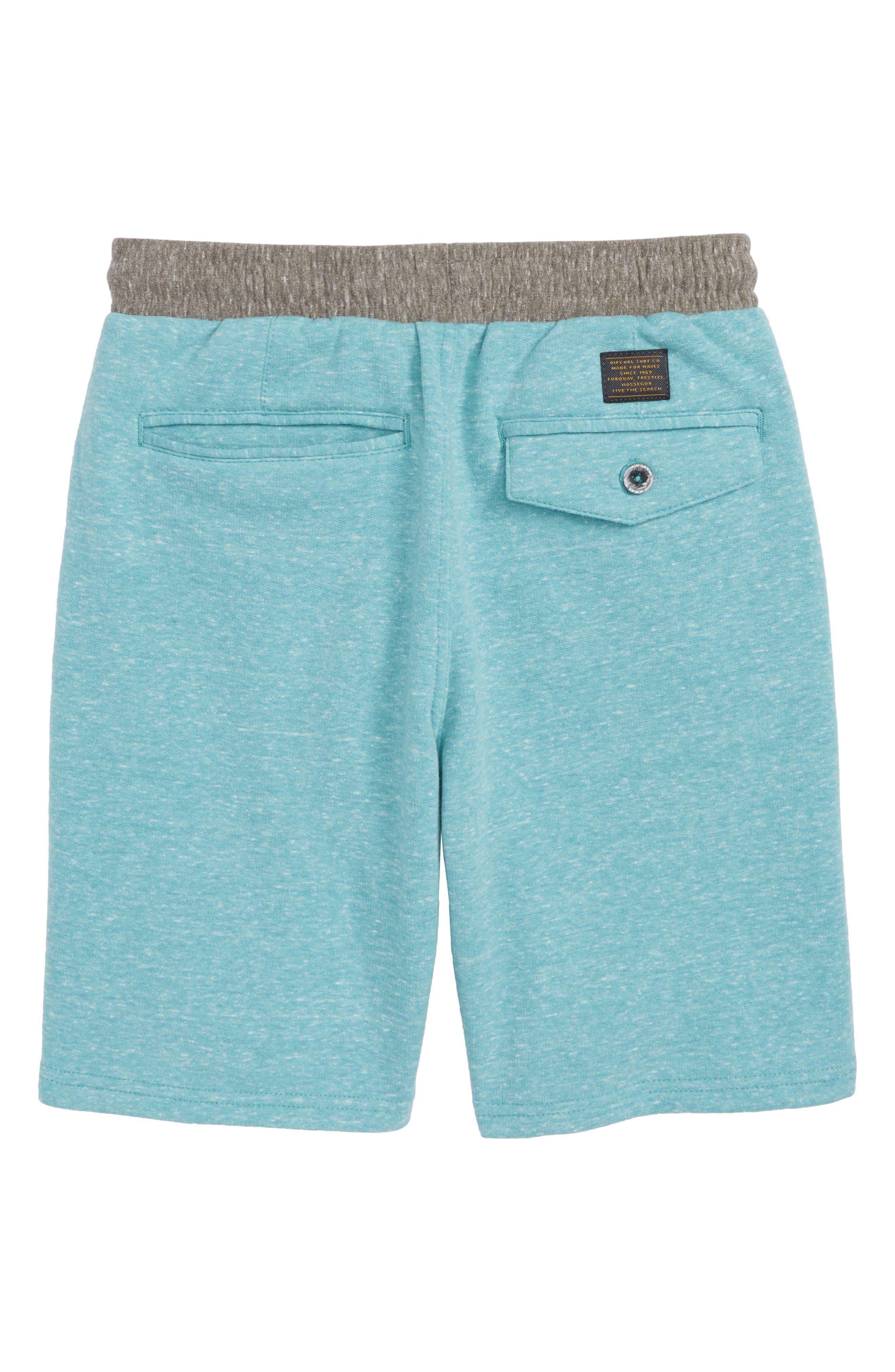 Seaside Fleece Shorts,                             Alternate thumbnail 2, color,                             Teal