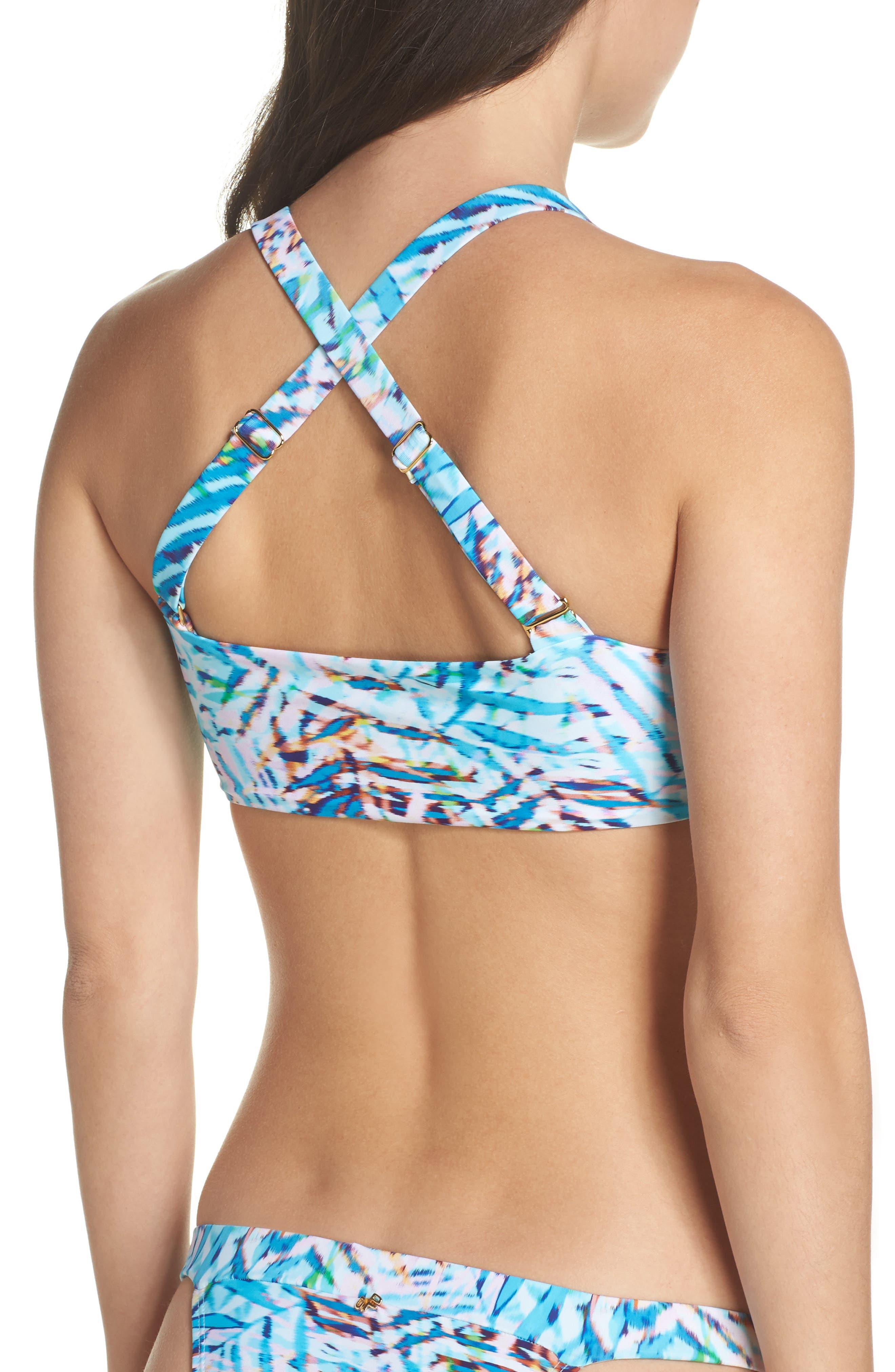 Knot Bikini Top,                             Alternate thumbnail 3, color,                             Palma