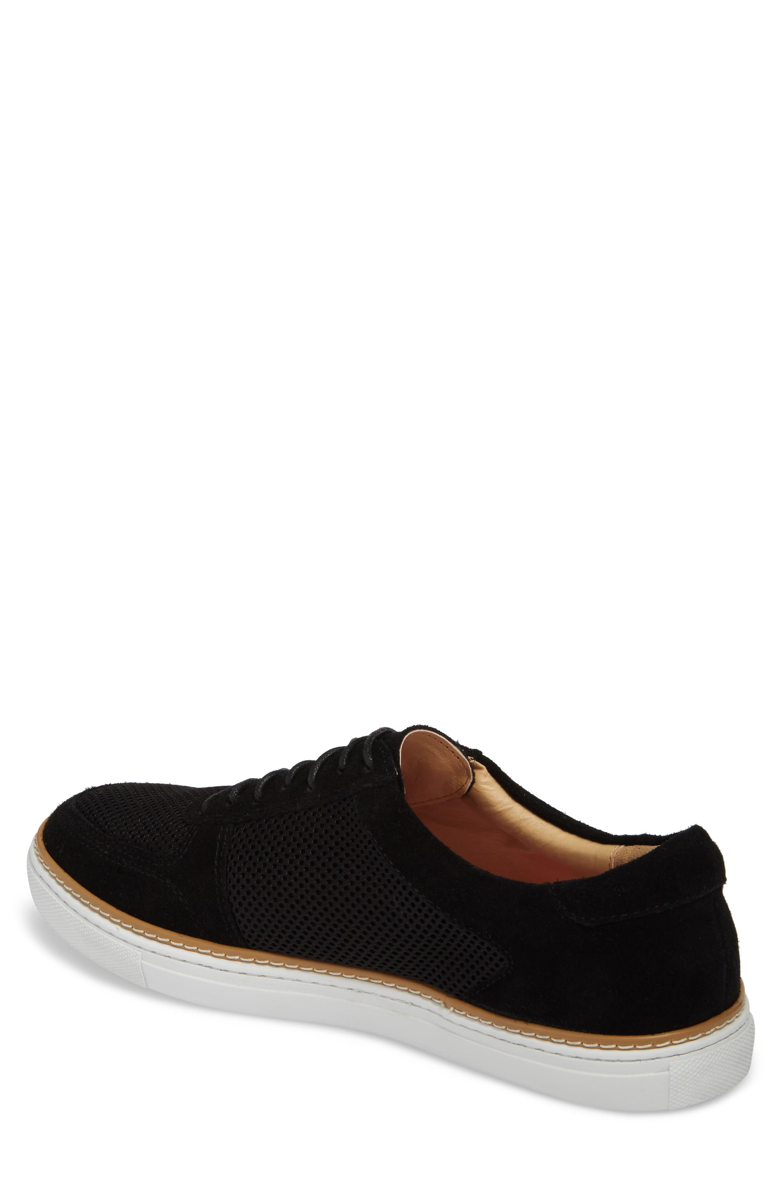 Landseer Mesh Sneaker,                             Alternate thumbnail 2, color,                             Black Suede/ Mesh
