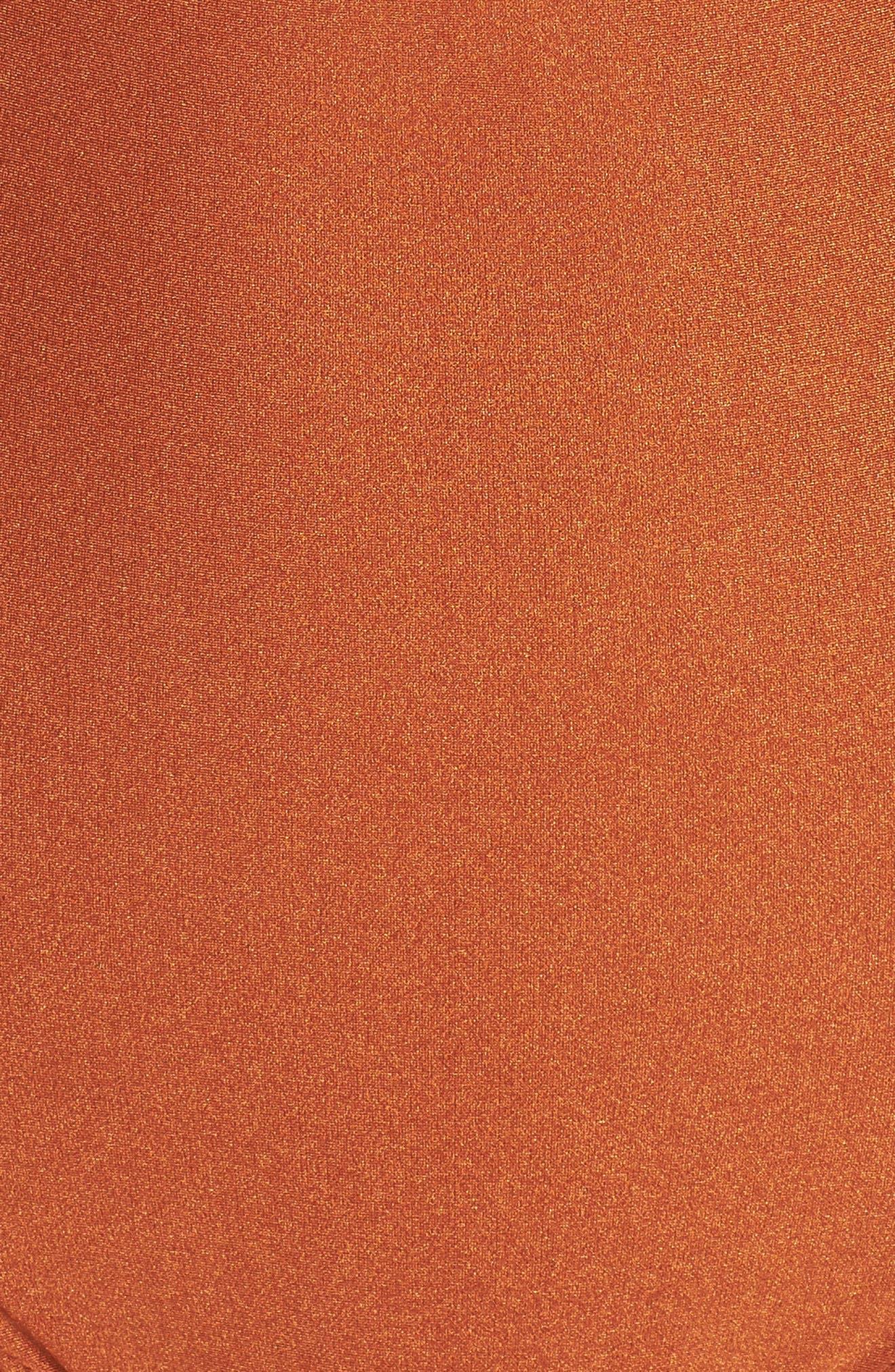 Strata One-Piece Swimsuit,                             Alternate thumbnail 6, color,                             Ginger Orange
