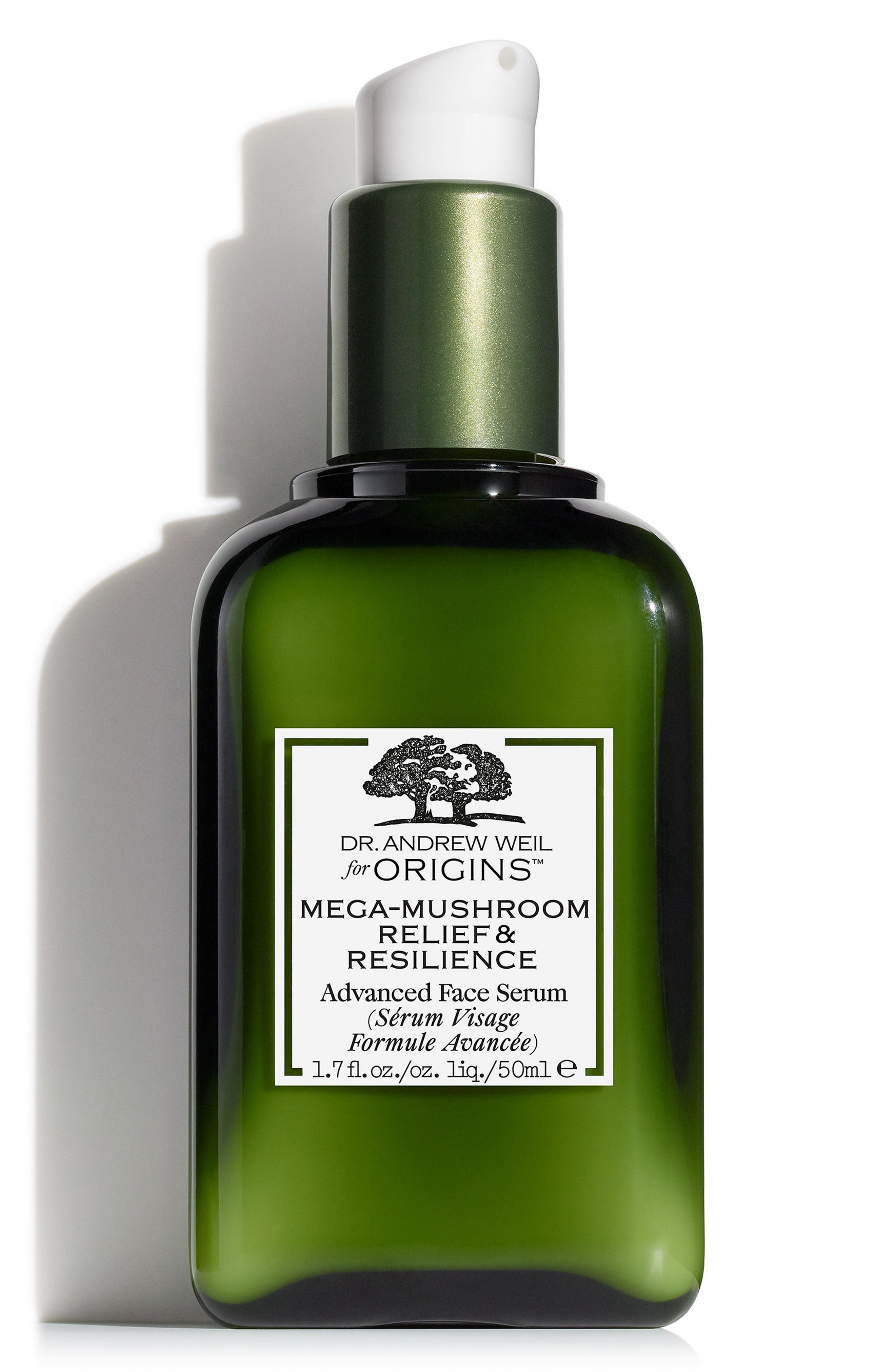 Dr. Andrew Weil for Origins<sup>™</sup> Mega-Mushroom Relief & Resilience Advanced Face Serum,                             Main thumbnail 1, color,                             No Color