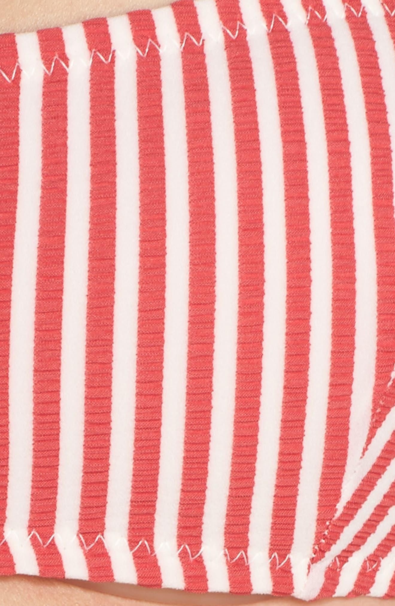 The Mackenzie Off the Shoulder Bikini Top,                             Alternate thumbnail 8, color,                             Red