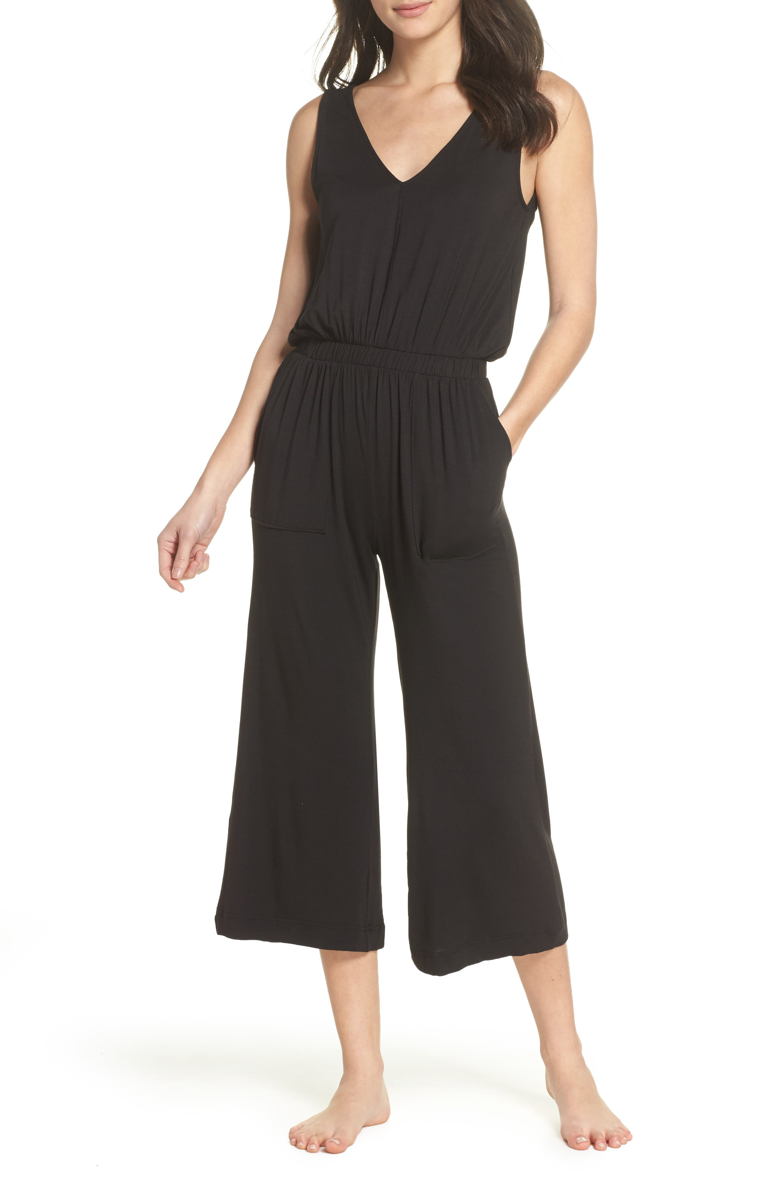 Crop Jumpsuit,                         Main,                         color, Black