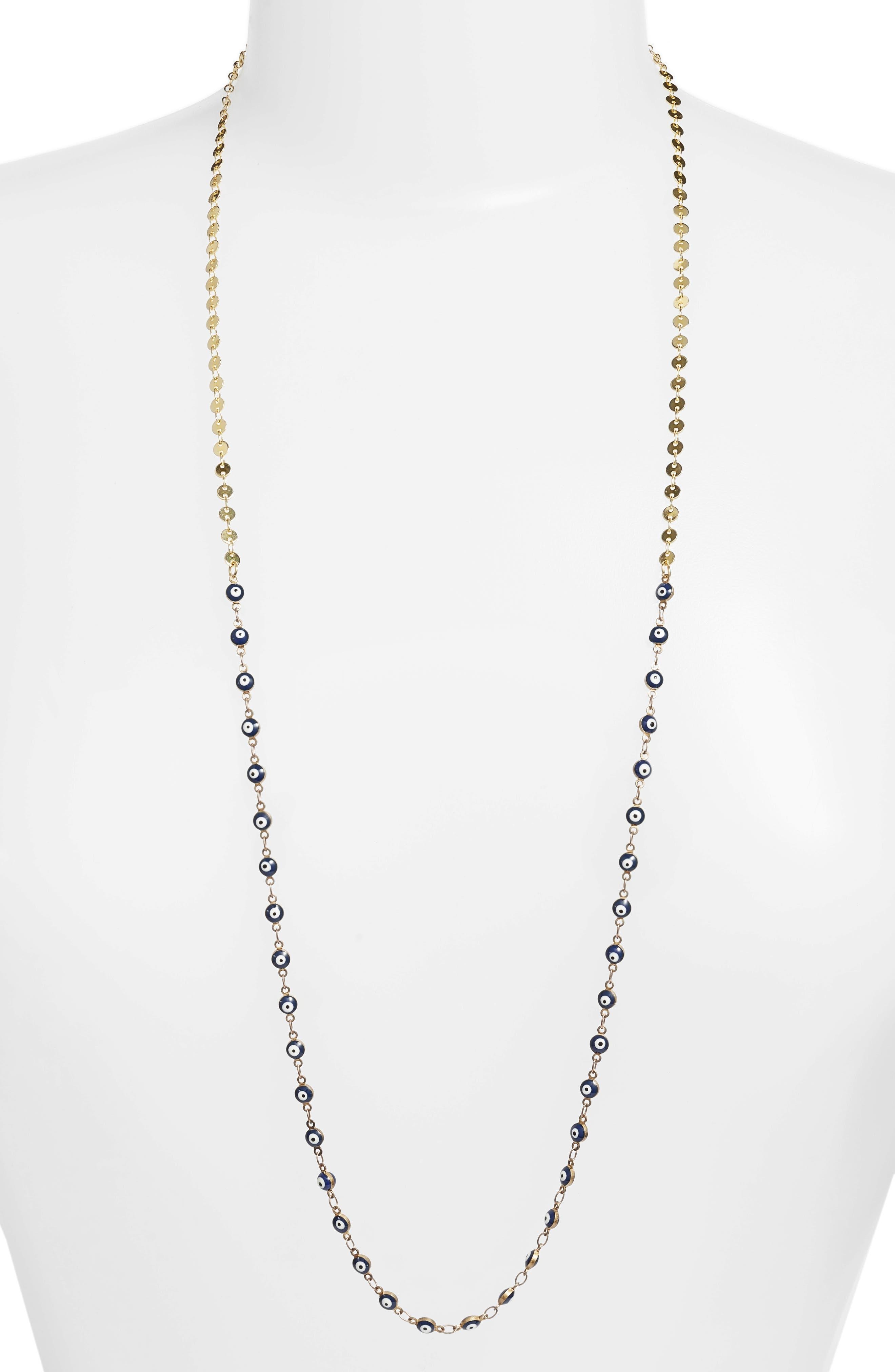 Abundance Necklace,                         Main,                         color, Blue/ Gold