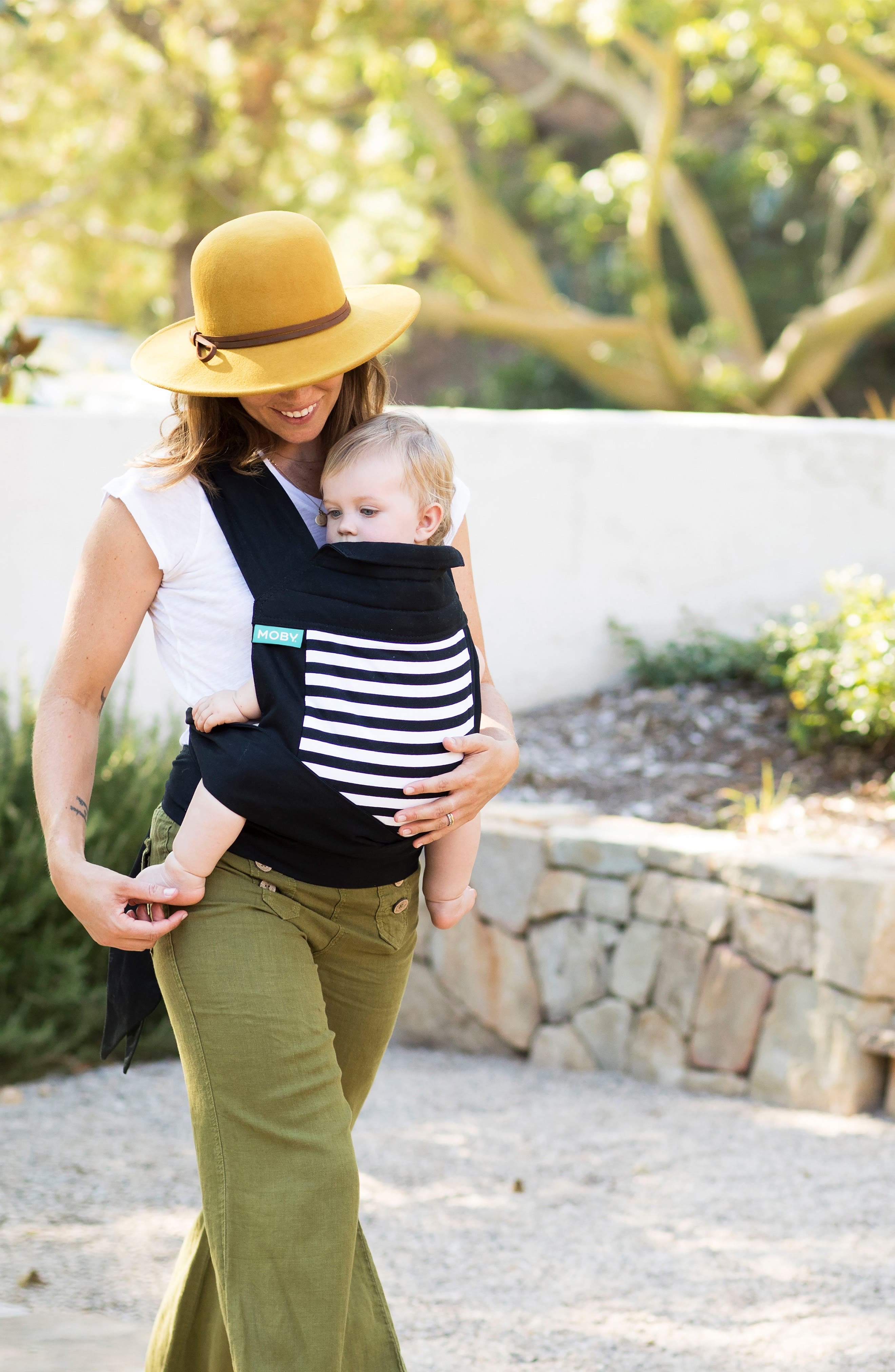 Wrap Buckle Baby Carrier,                             Alternate thumbnail 4, color,                             Stripes