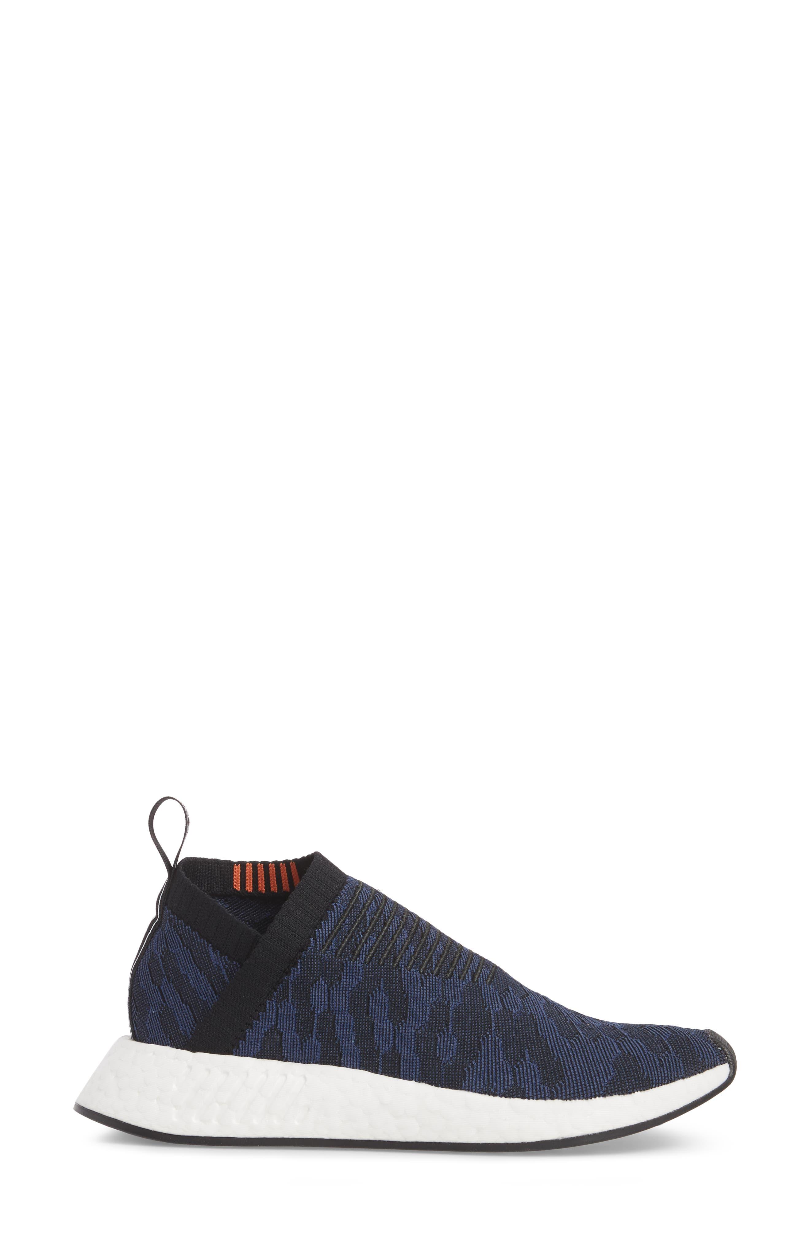 NMD CS2 Primeknit Sneaker,                             Alternate thumbnail 3, color,                             Core Black/ Noble Indigo
