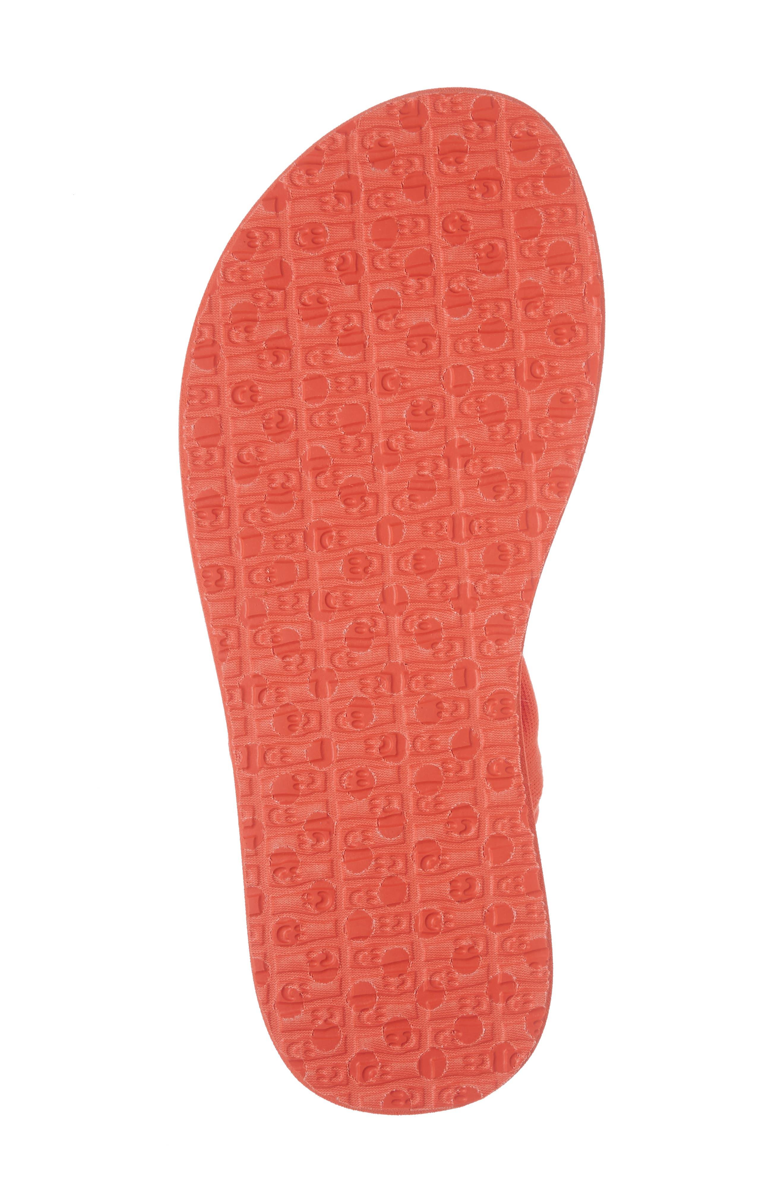 'Yoga Sling Burst' Sandal,                             Alternate thumbnail 6, color,                             Nasturium