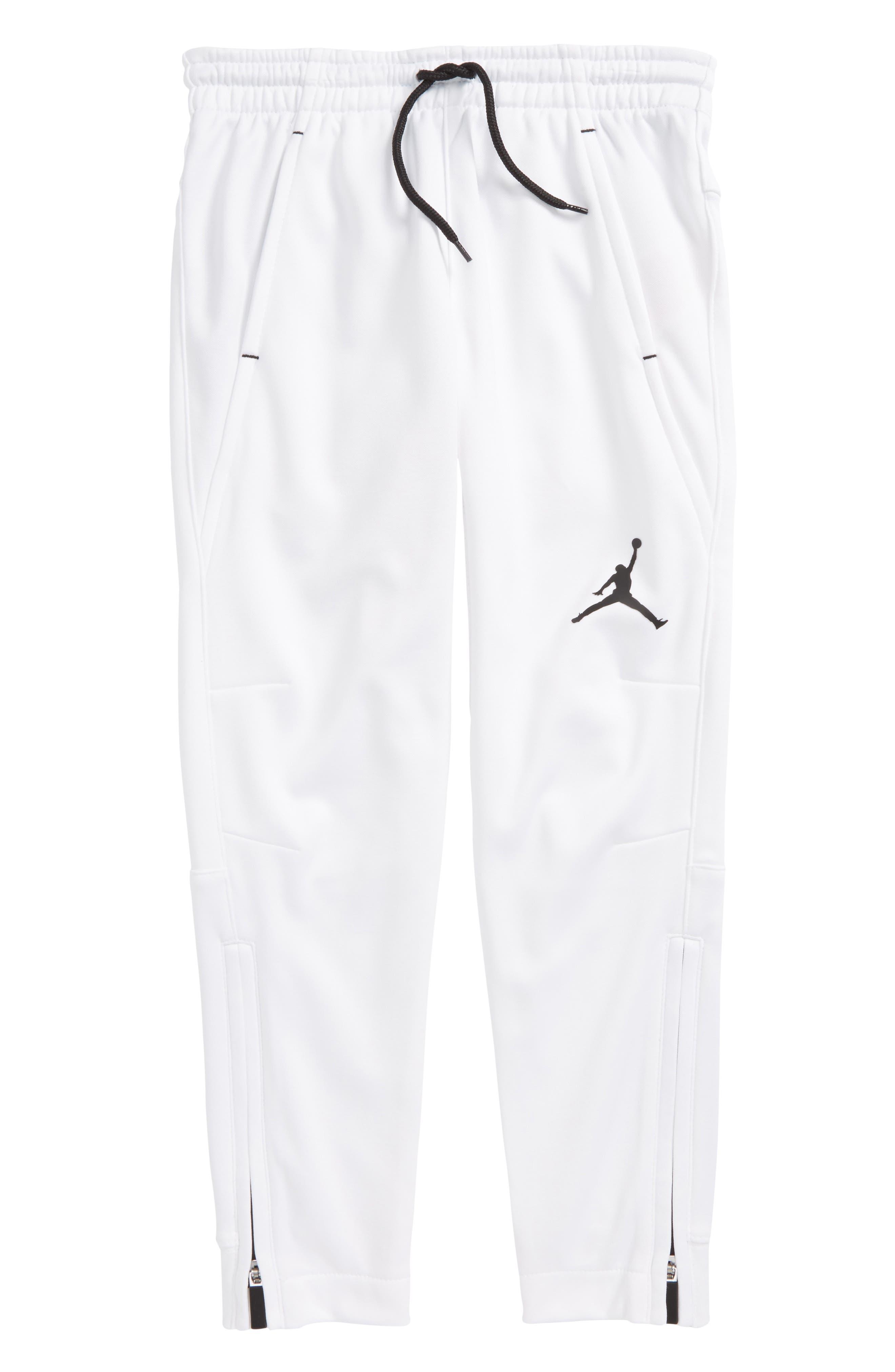 Jordan Dry 23 Alpha FZ Therma-FIT Sweatpants,                             Main thumbnail 1, color,                             White