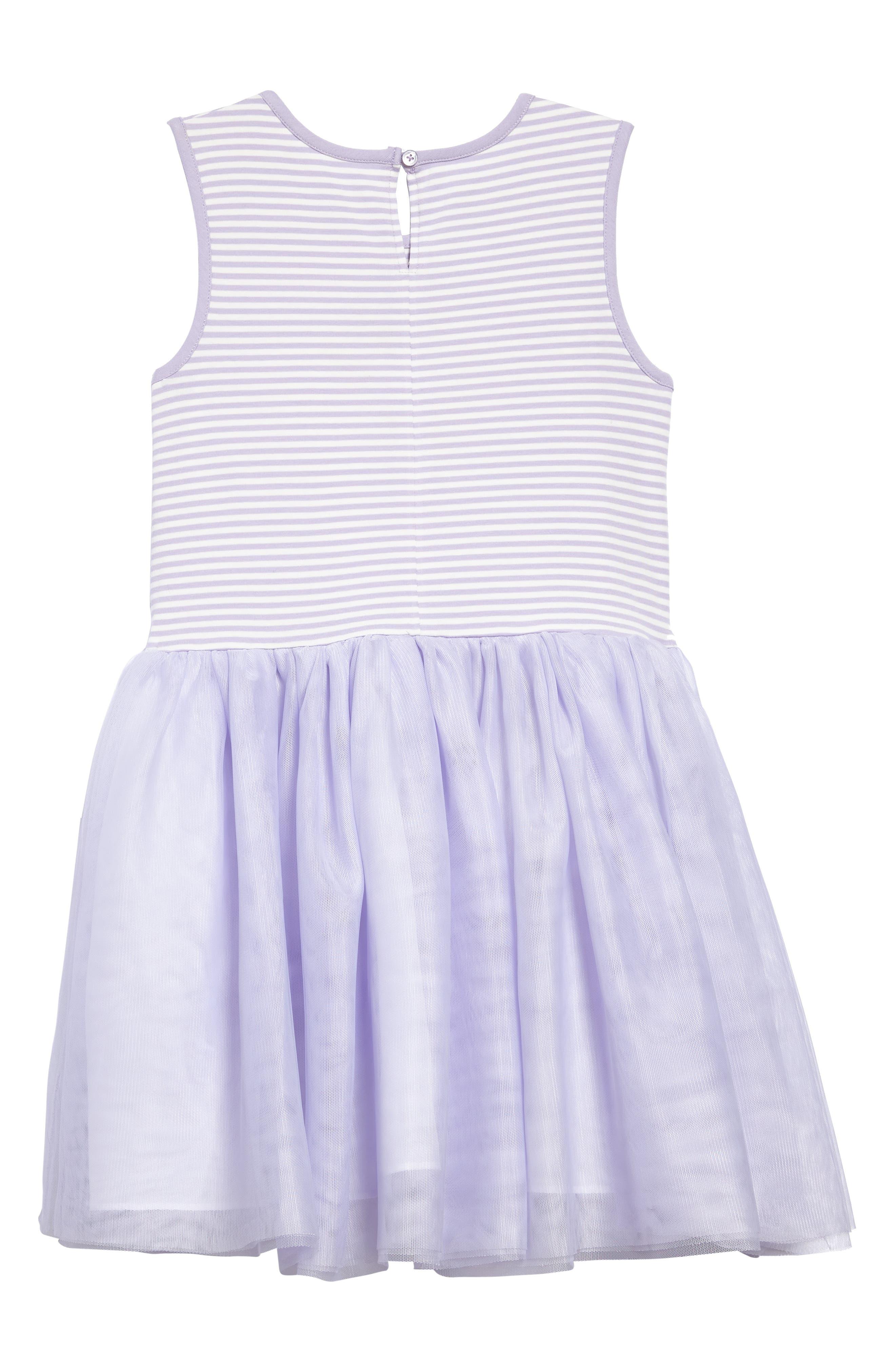 Sleeveless Tutu Dress,                             Alternate thumbnail 2, color,                             Lavender/ White