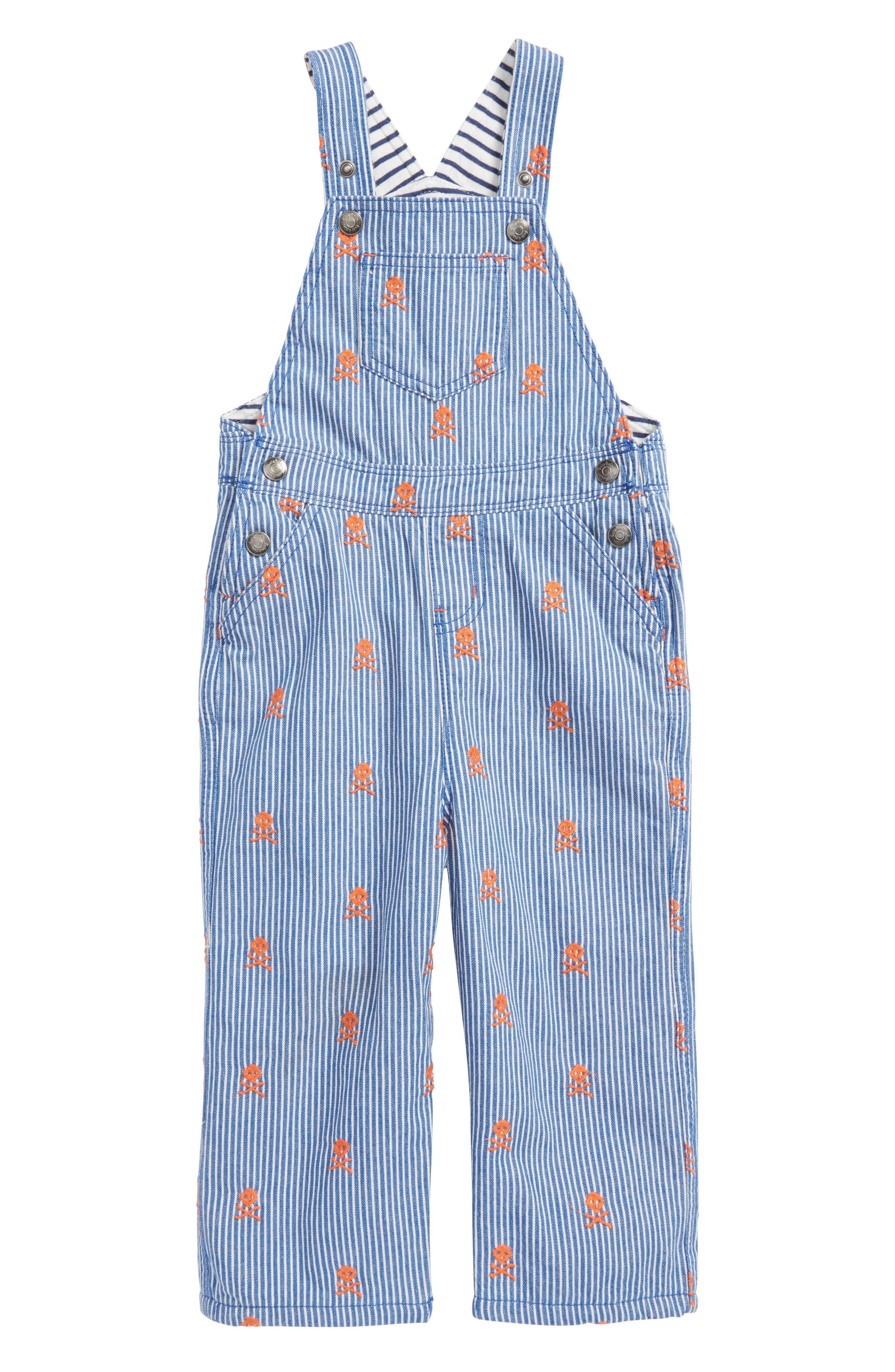 Classic Dungaree Overalls,                         Main,                         color, Duke Ticking Stripe