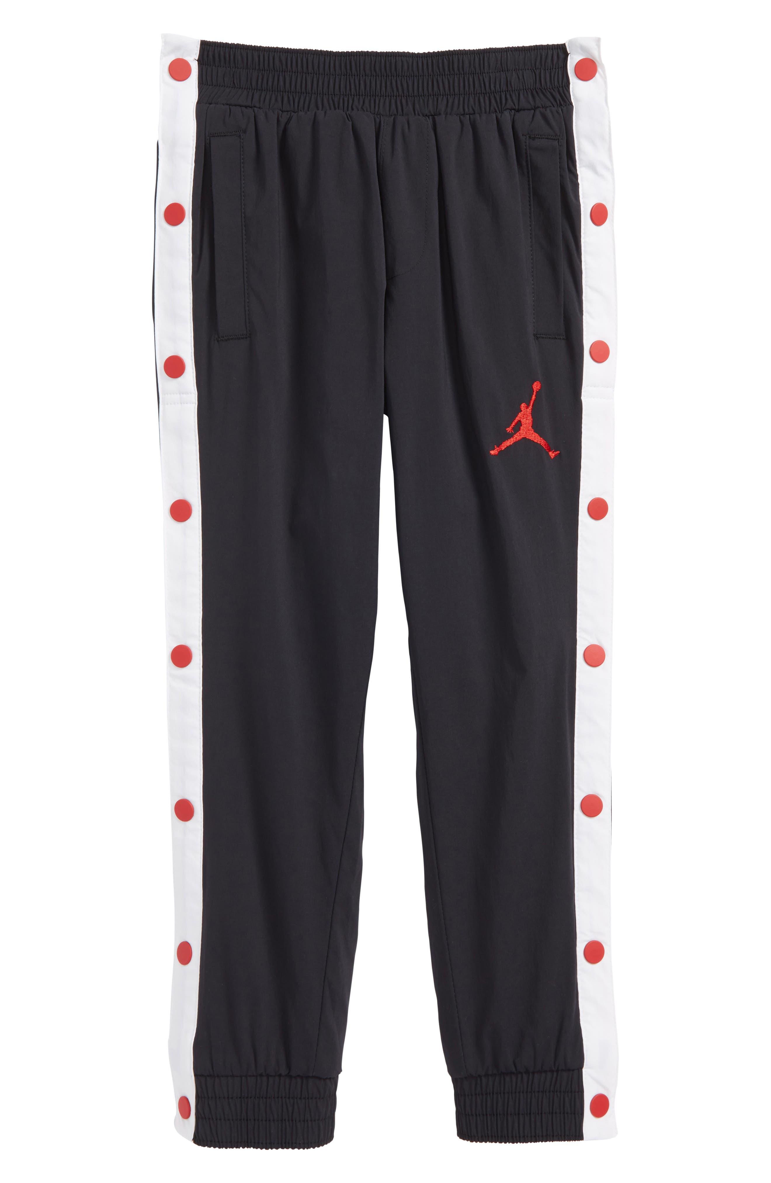 Jordan AJ '90s Snapaway Sweatpants,                             Main thumbnail 1, color,                             Black