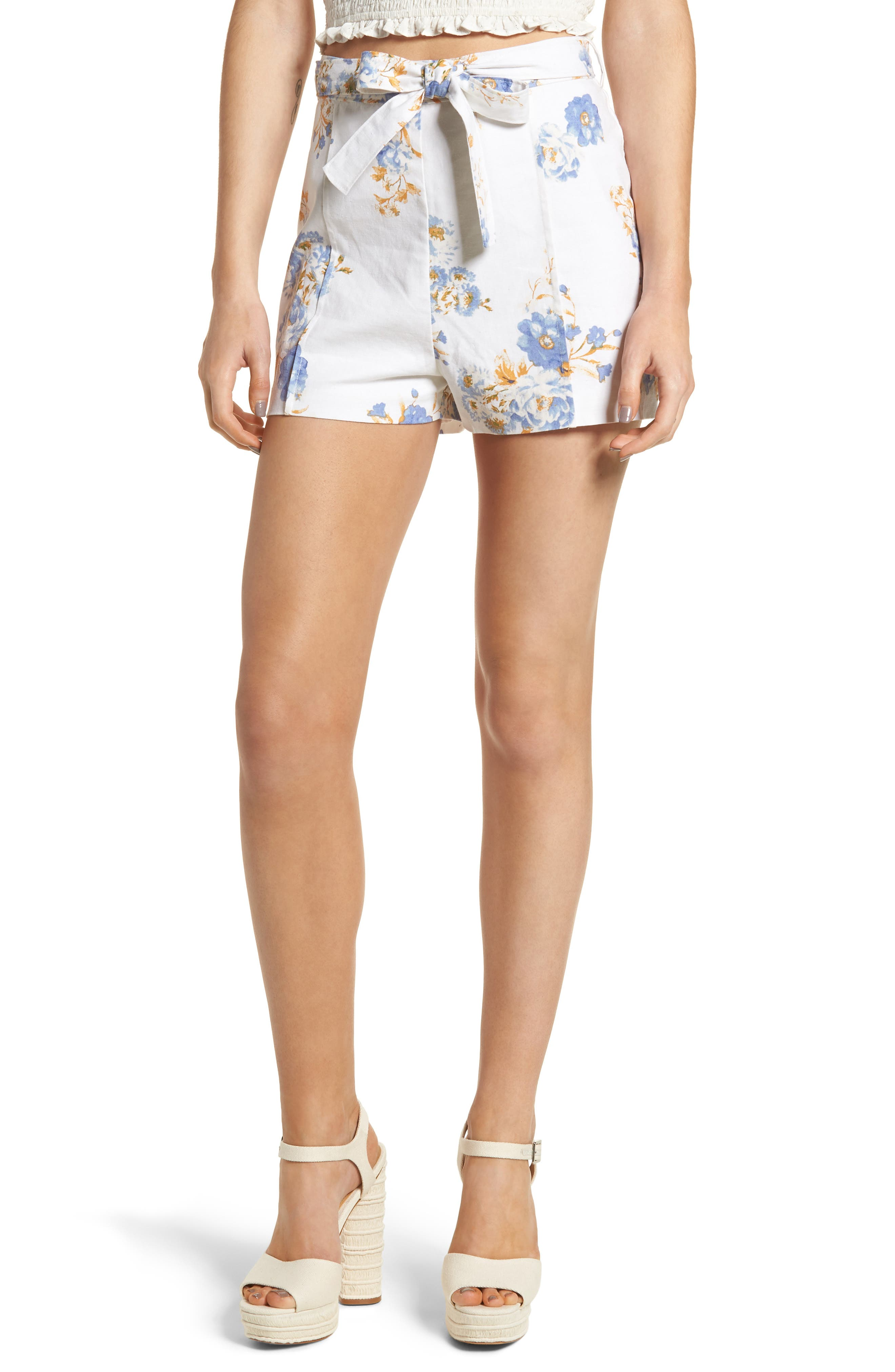 Alternate Image 1 Selected - WAYF Matera High Waist Shorts