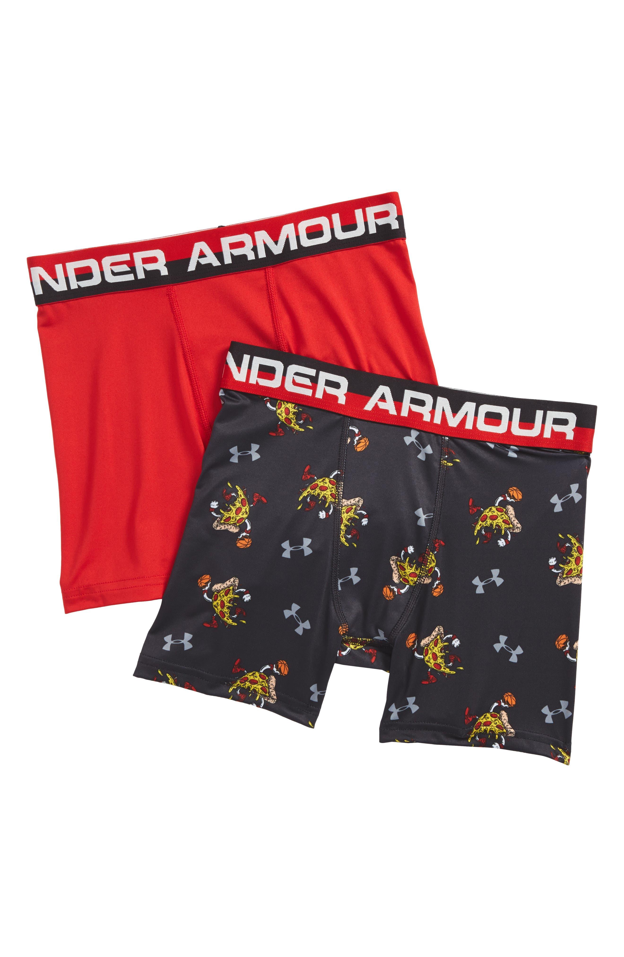 Under Armour Pizza Dunk Boxerjock® 2-Pack Boxer Briefs (Little Boys & Big Boys)